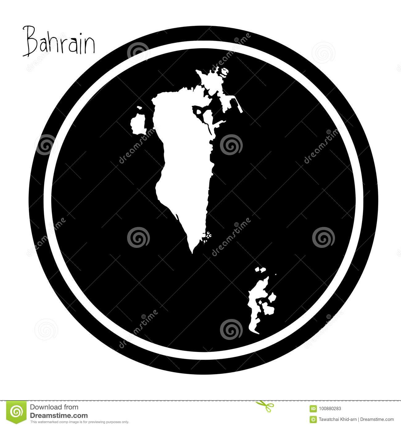 Vector Illustration White Map Of Bahrain On Black Circle, Isolated on map of oman, map of western europe, map of sinai peninsula, map of mediterranean countries, map of persian gulf, map of cote d'ivoire, map of italy, map of croatia, map of eritrea, map of greece, map of qatar, map of djibouti, map of kuwait, map of philippines, map of australia, map of czech republic, map saudi arabia, map of western sahara, map of sri lanka, map of middle east,