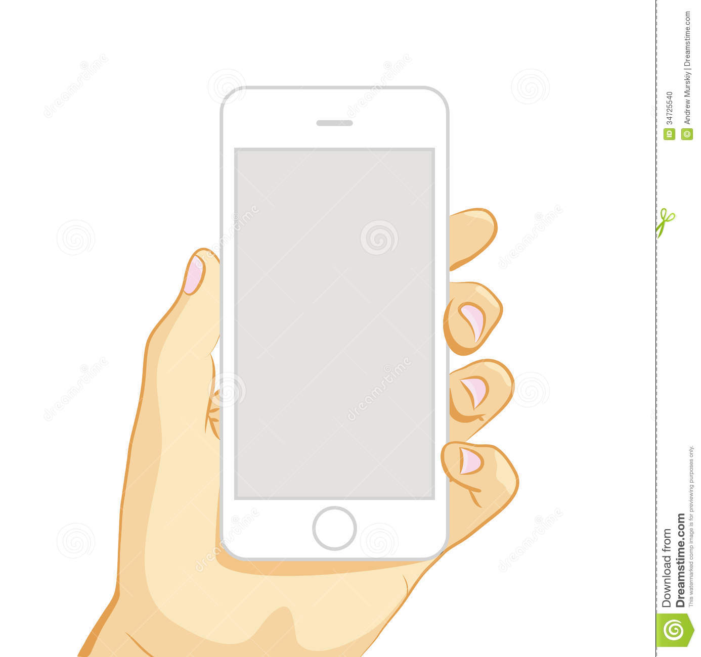 vector illustration of white smart phone stock photo scroll clipart scroll clip art black and white