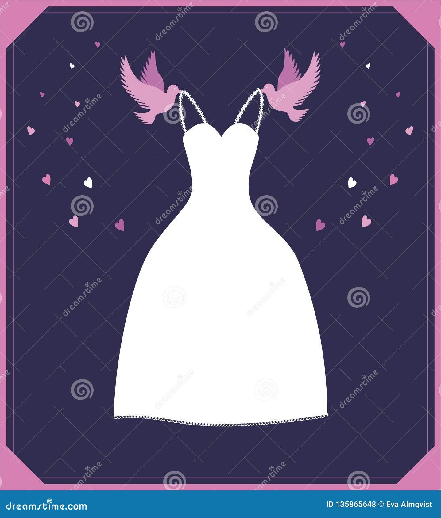 Cinderella Dresses Stock Vector Illustration Of Isolated: Vector Illustration White Wedding Dress.Ssign For Shop