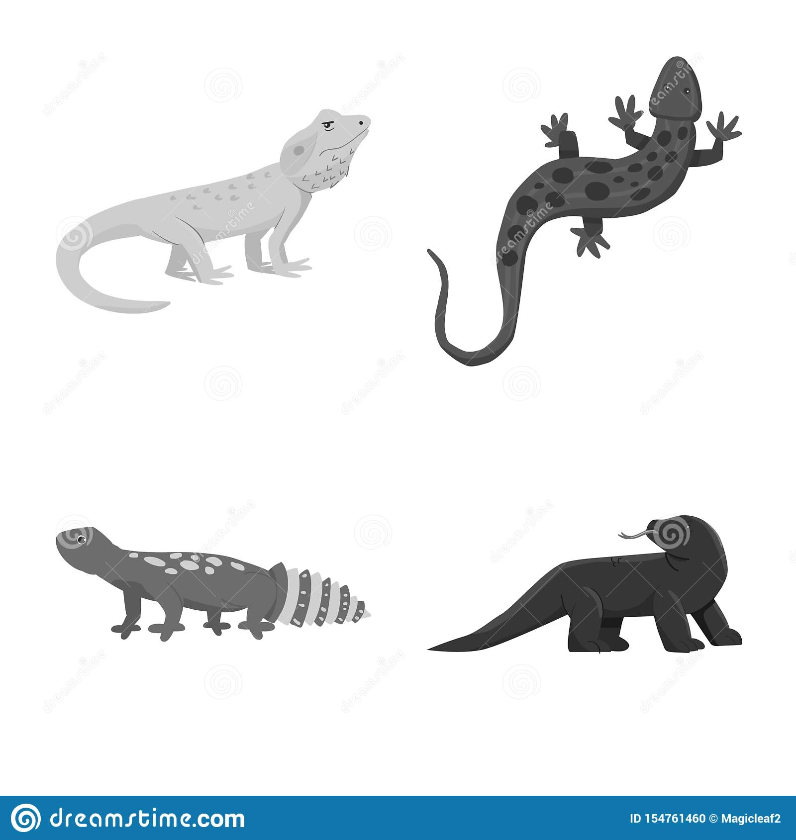 Vector illustration of wild and exotic symbol. Collection of wild and fauna vector icon for stock.