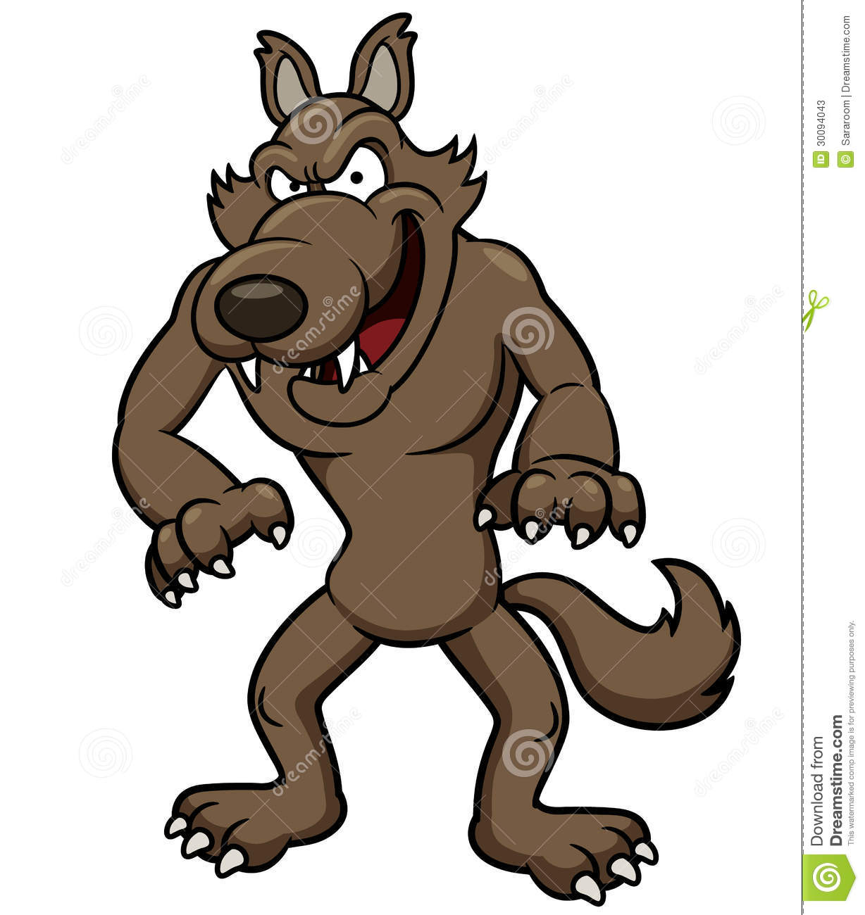 Wolf Cartoon Stock Photos - Image: 30094043