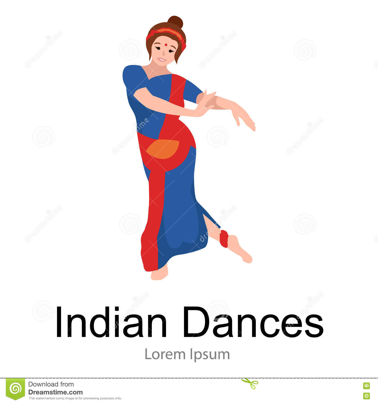 Kathak Cartoons, Illustrations & Vector Stock Images - 43 Pictures to ... Beautiful Kathak Dance Costume