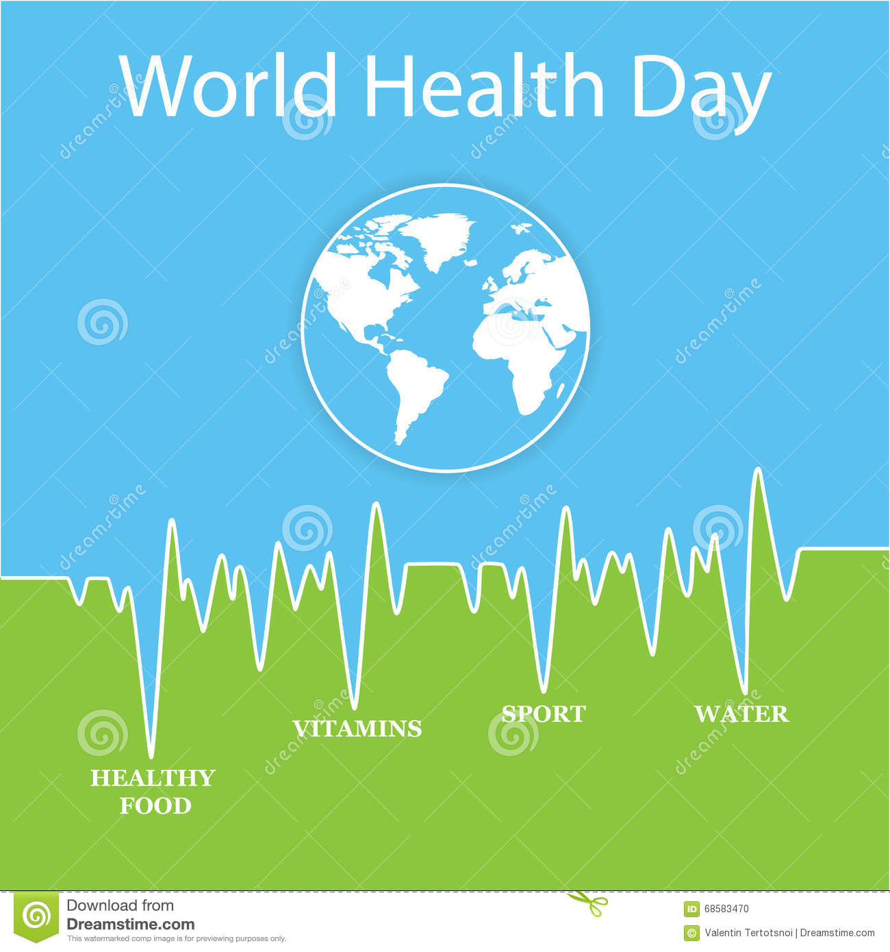 Vector Illustration For World Health Day Stock Photo ...