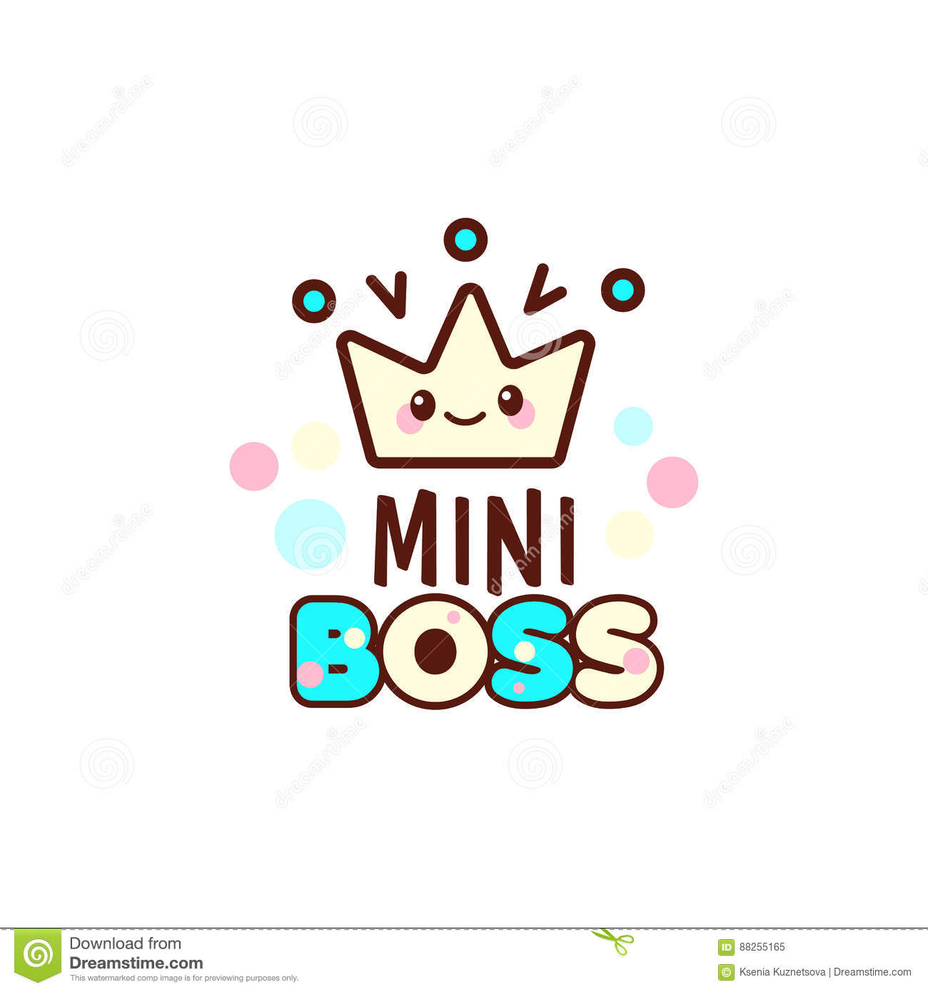 The vector illustration of yellow crown and the mini boss text the vector illustration of yellow crown and the mini boss text with stylish kawaii emoji gift for boy biocorpaavc Gallery
