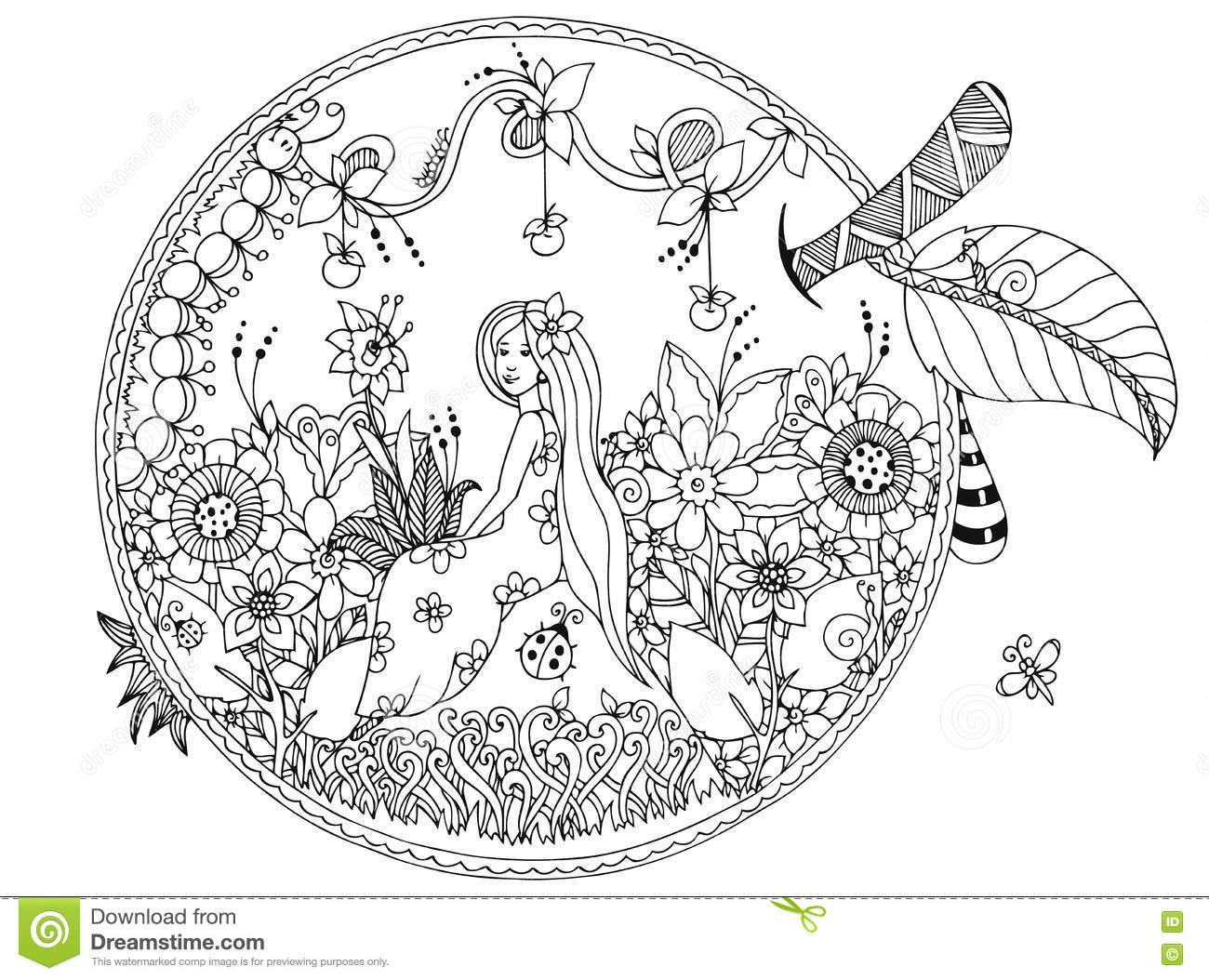 Galerry zen nature coloring book