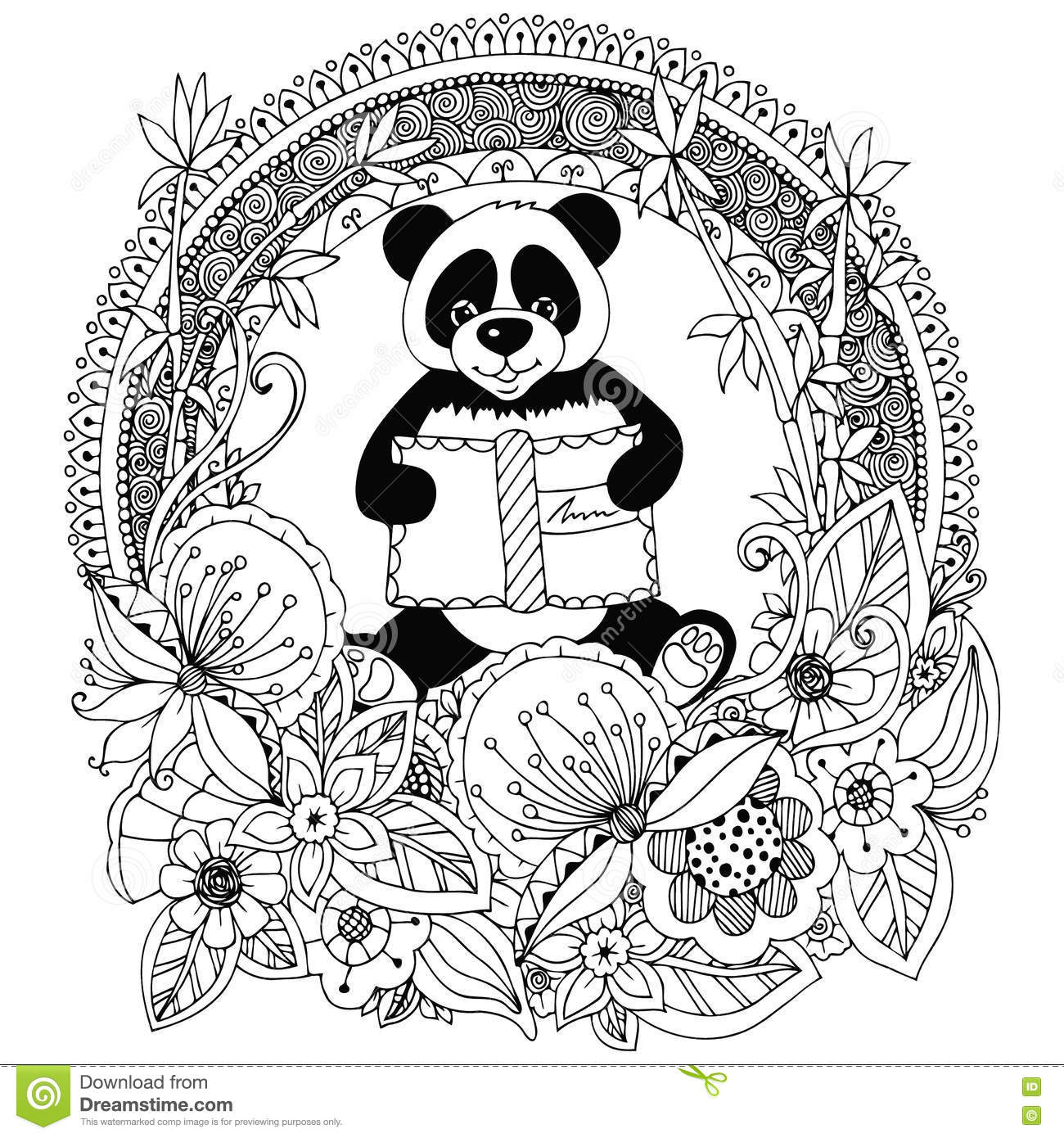 Beautiful Floral Design Coloring Book Anti Stress For