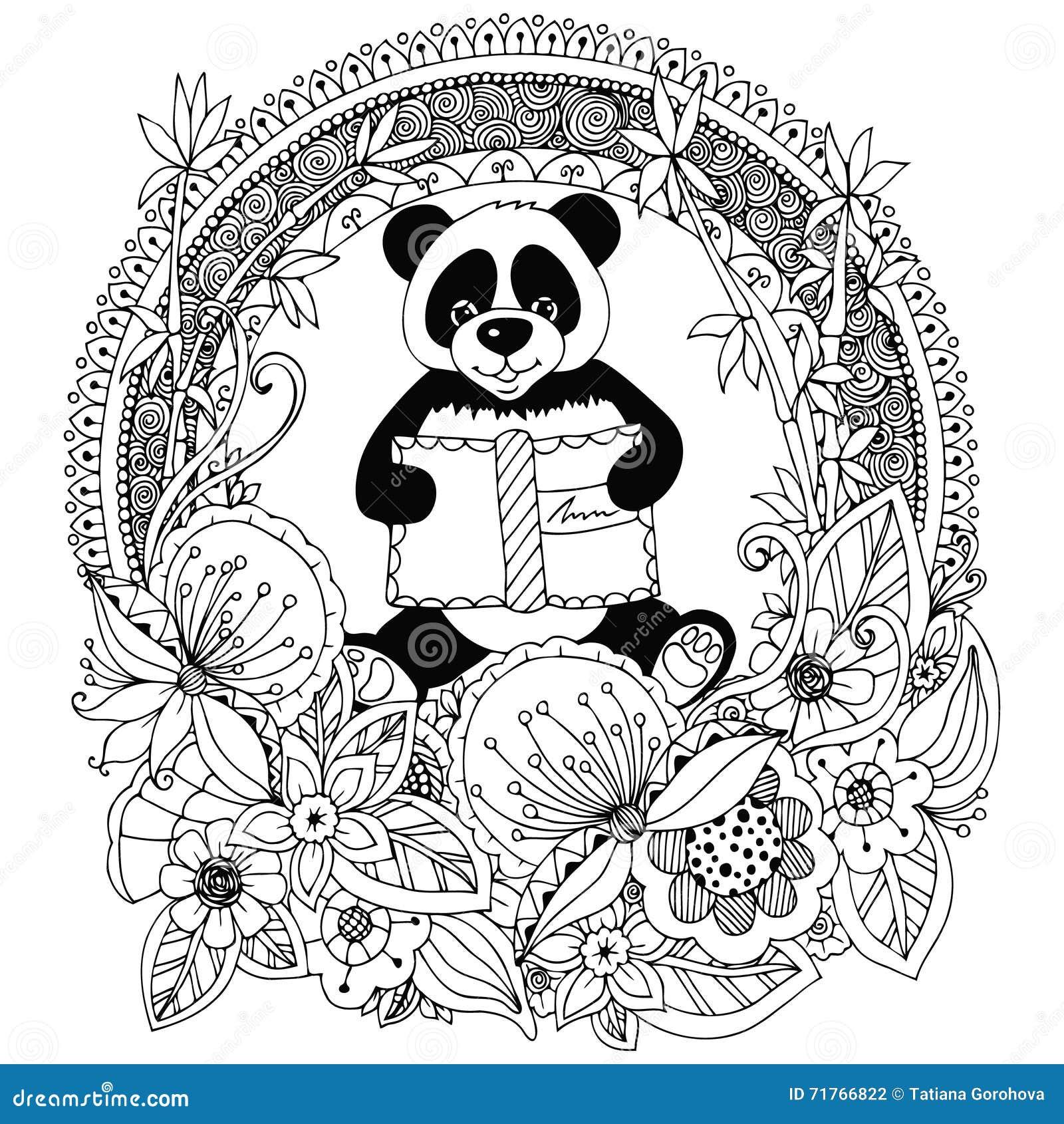 Charming Secret Garden Coloring Book Tall Curious George Coloring Book Shaped Skull Coloring Book Marvel Coloring Books Youthful Pantone Color Books FreshFairy Coloring Book Vector Illustration Zen Tangle Panda With A Book Floral Circle ..