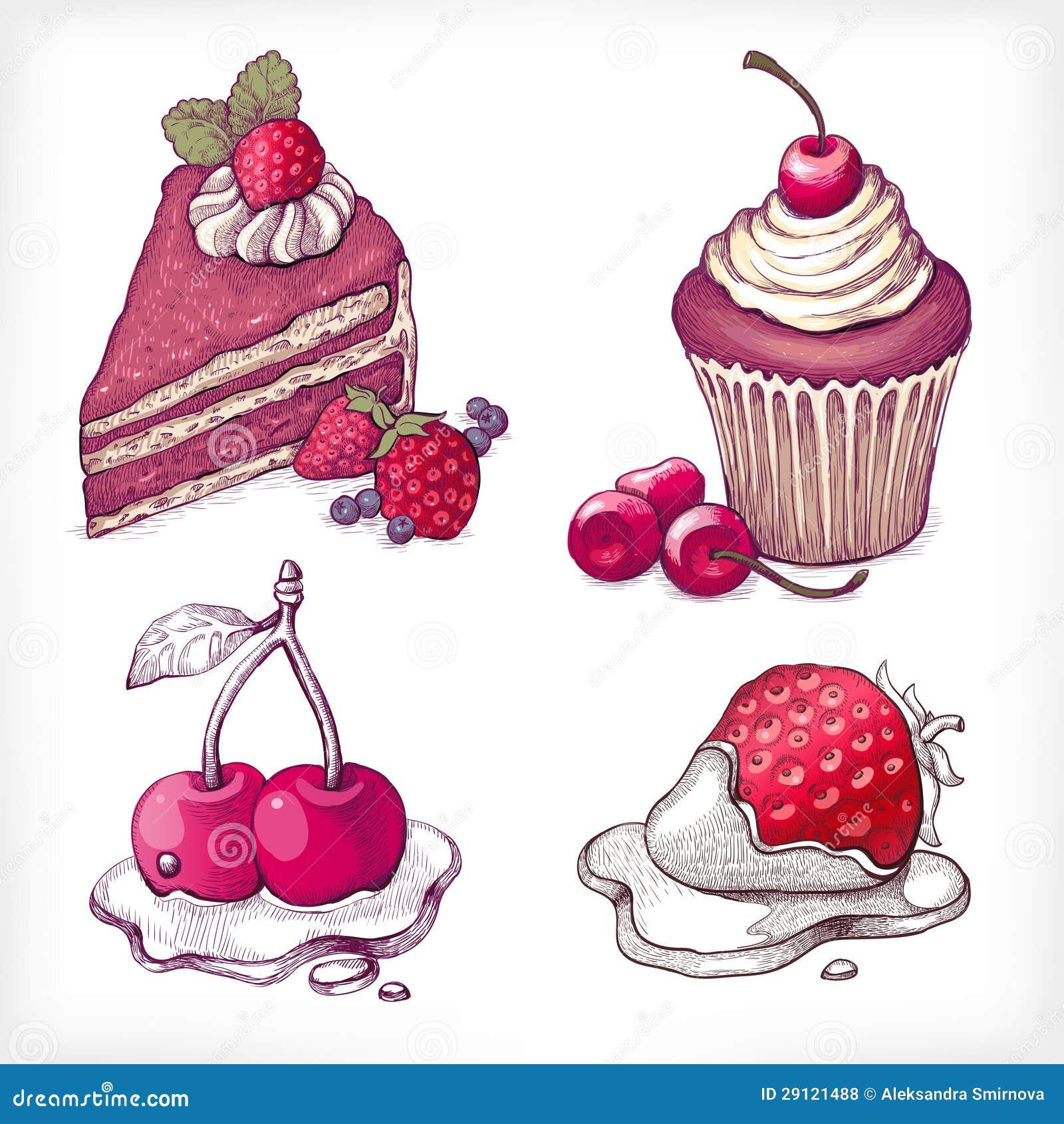 Vector Illustrations Of Dessert Stock Vector Image 29121488