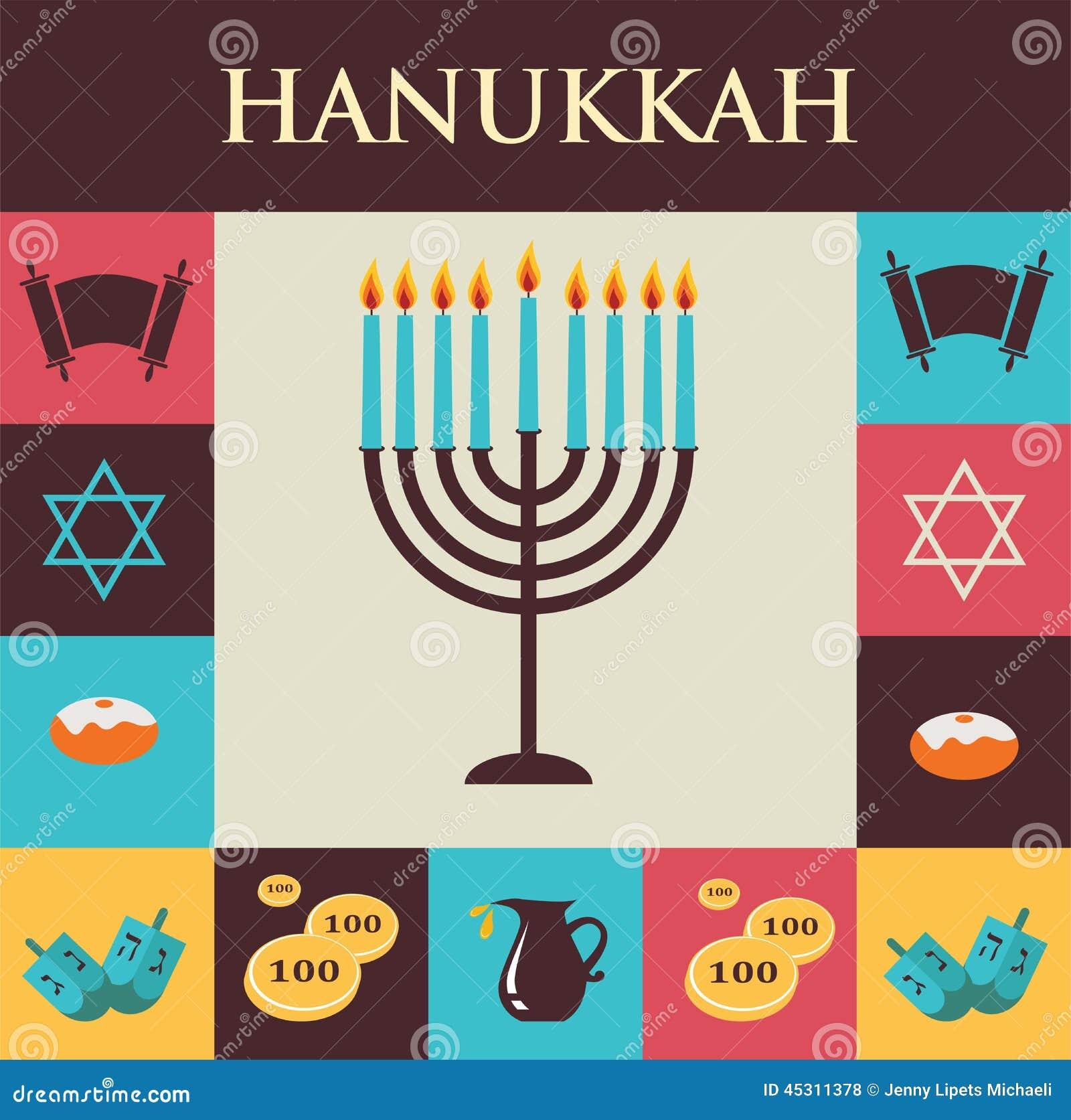 Uncategorized Chanukah Symbols vector illustrations of famous symbols for the jewish holiday royalty free illustration