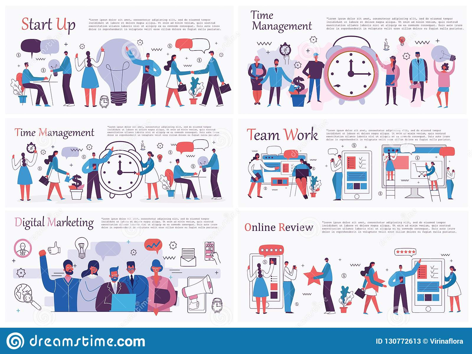 Office Concepts Business People In The Flat Style Stock