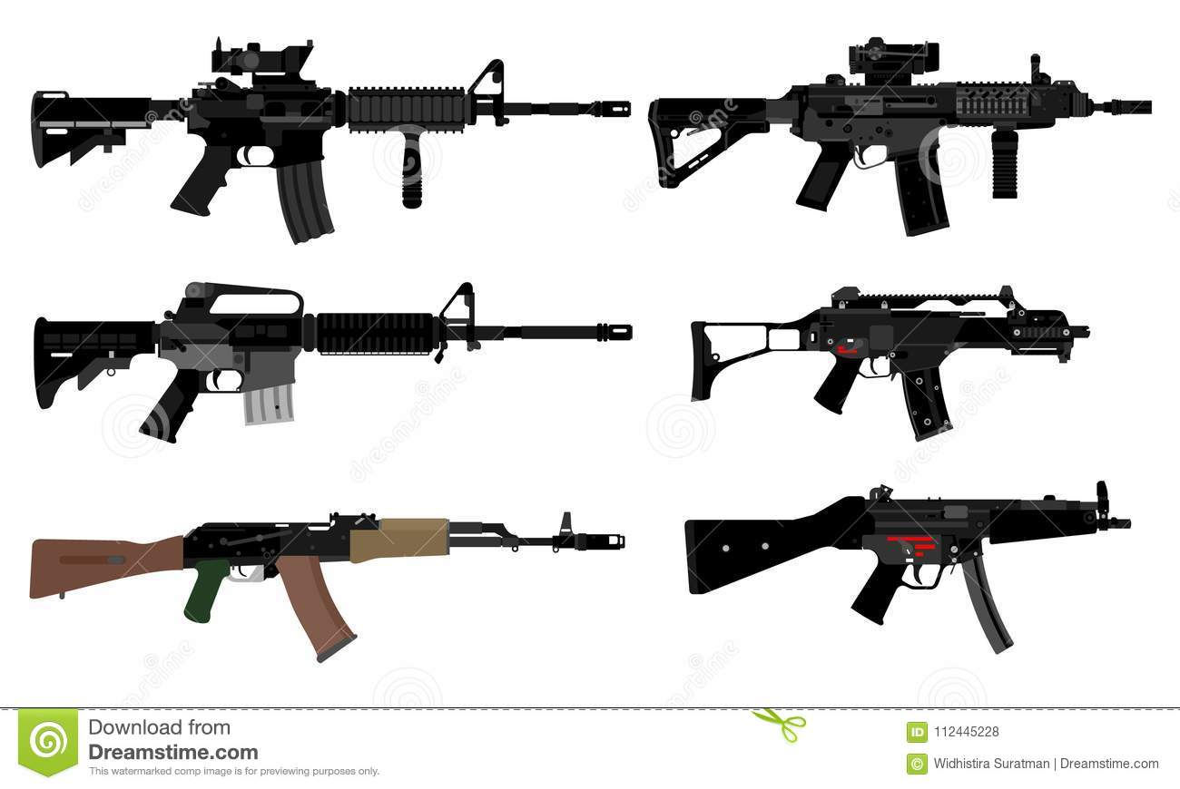 Vector of automatic weapons