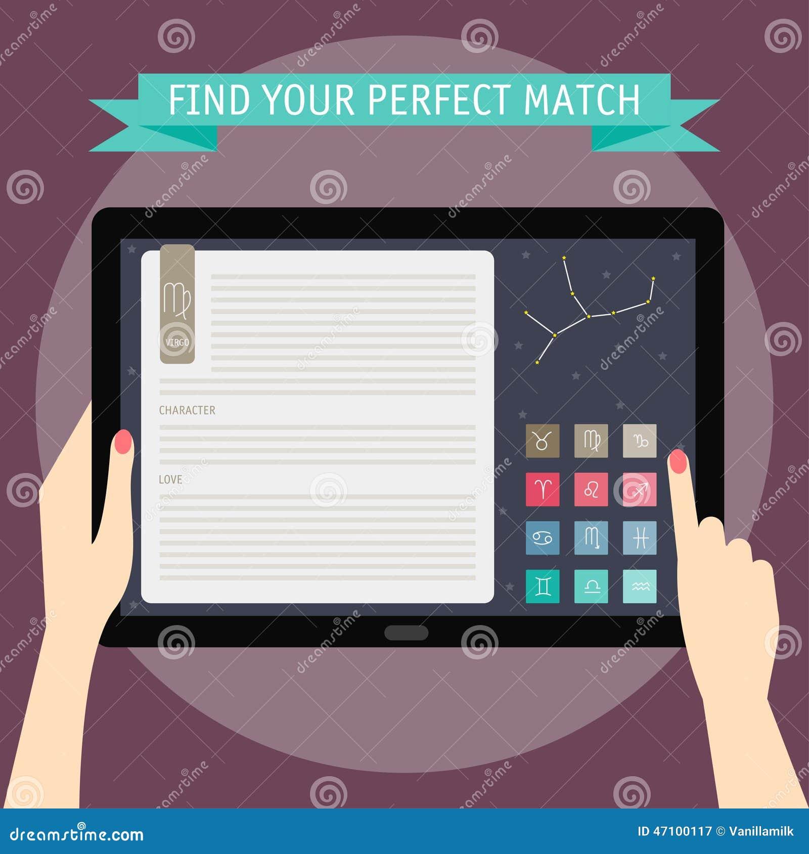 Vector Illustrationskonzept von den Händen, die Tablette und das Zeigen halten