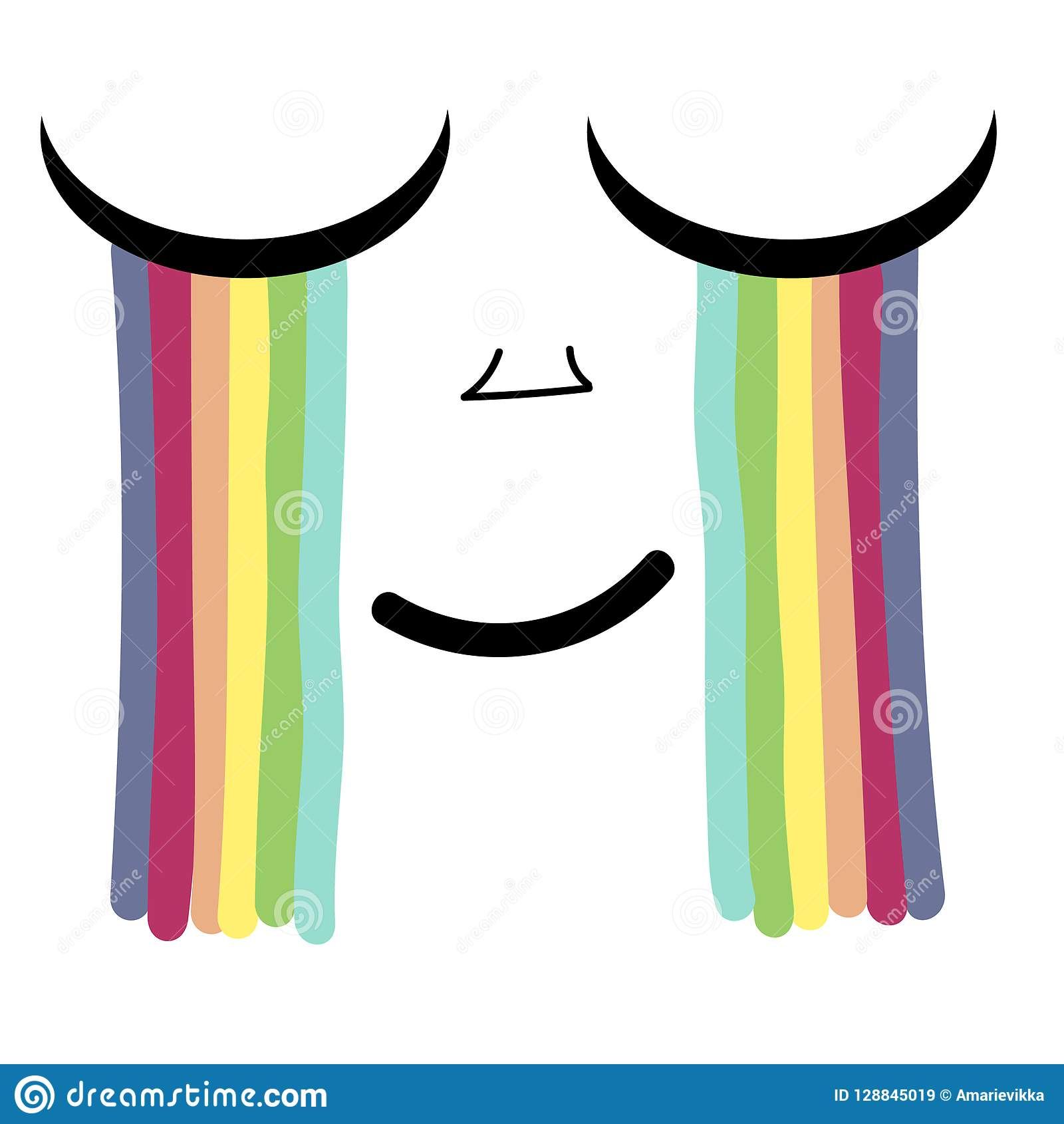 Vector a ilustração de um olho em vez dos rasgos de que arco-íris Gráficos do t-shirt para crianças