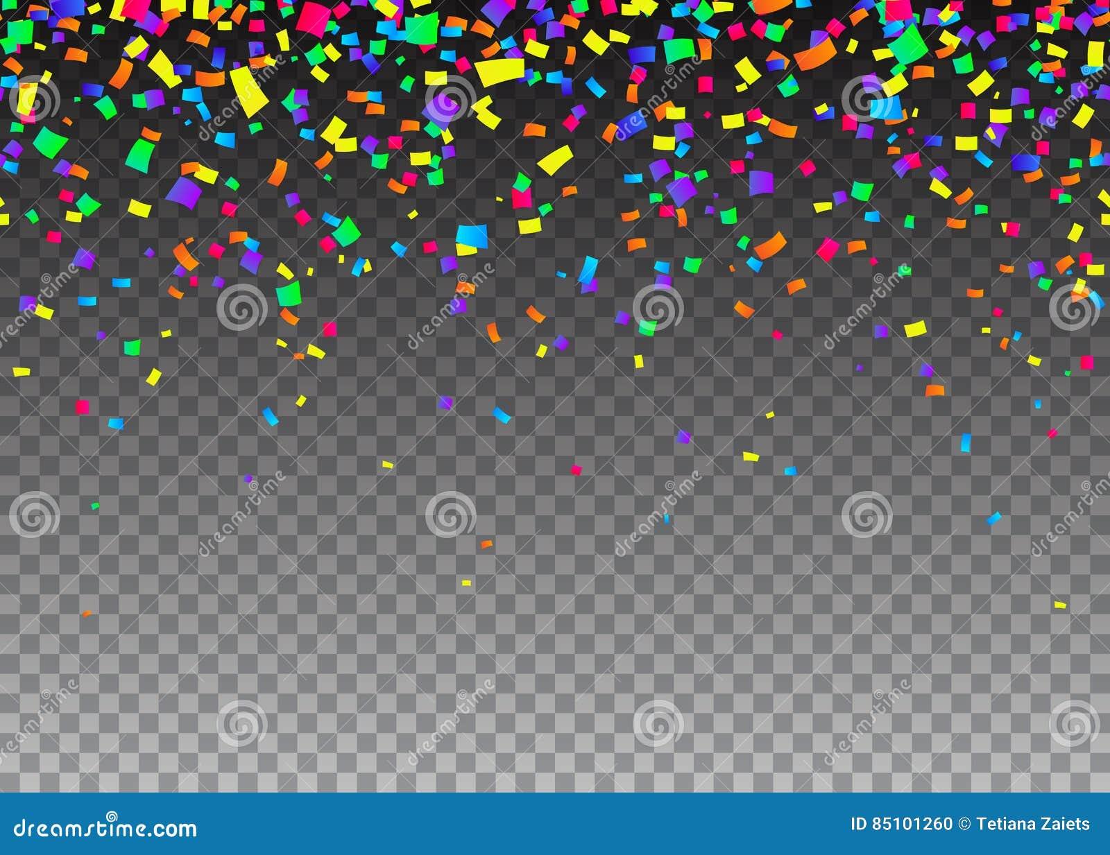Vector a ilustração do fundo sem emenda da beira dos desenhos animados com confetes do carnaval