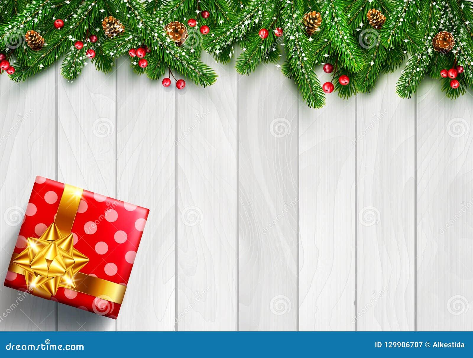 Vector a ilustração pelo Feliz Natal e o ano novo feliz Gre