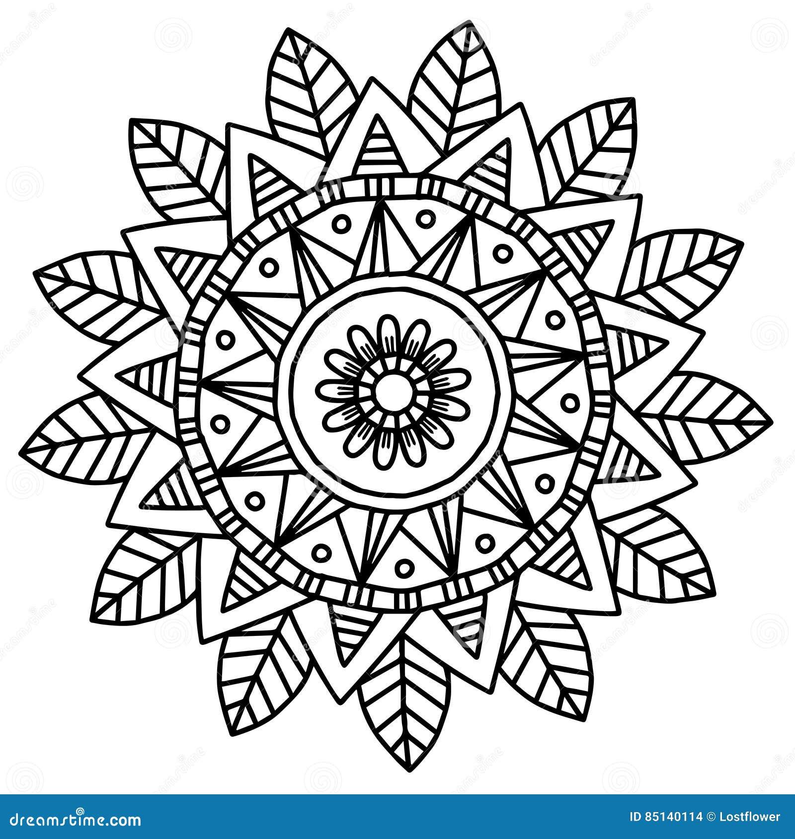 Vector Image For Adult Coloring Book Mandala Doodle Illustration ...