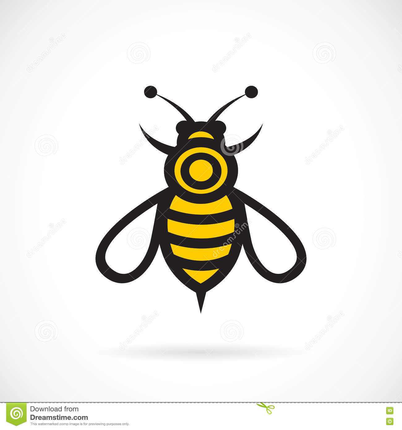 Vector image of an bee design.