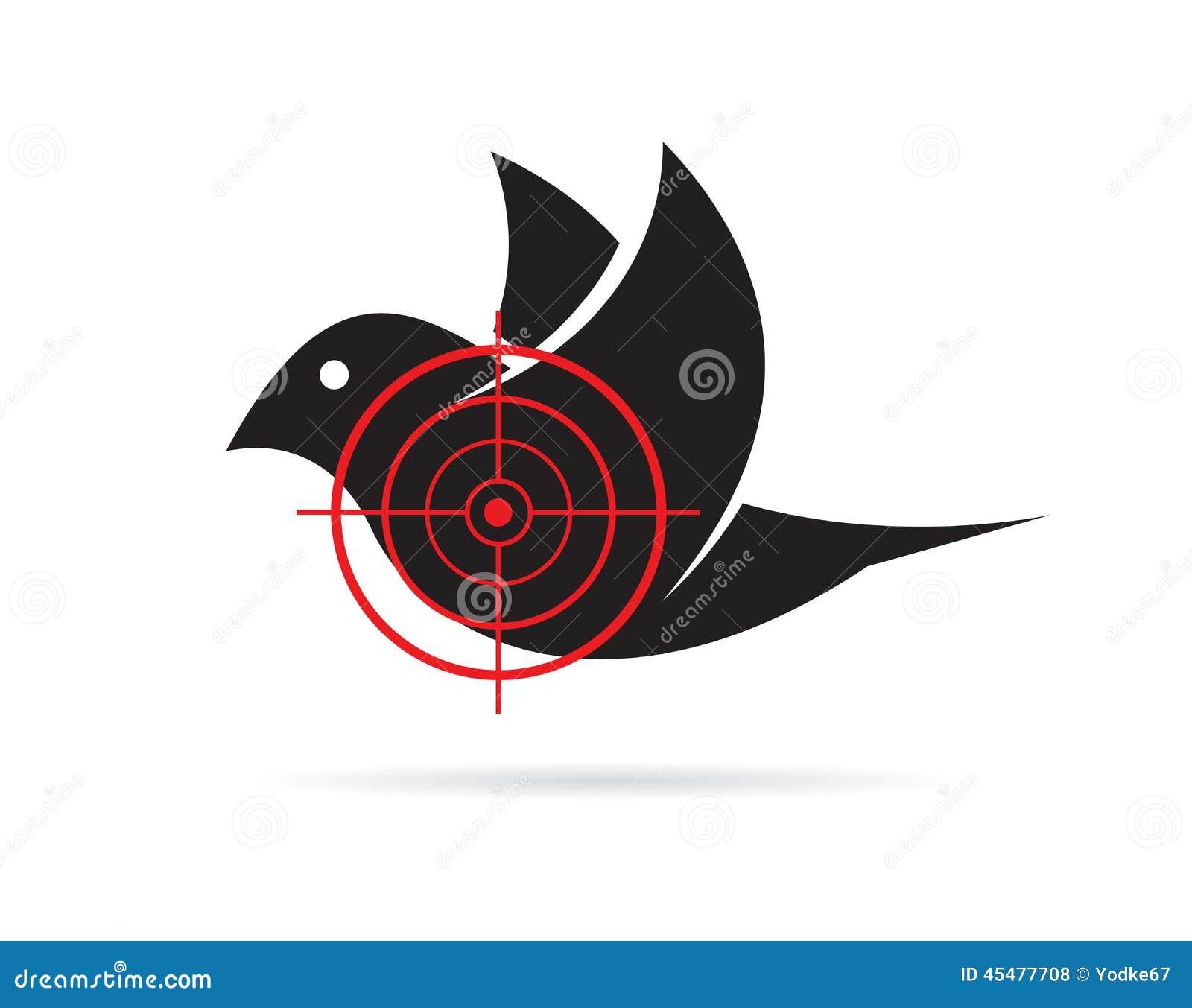 Vector Image Of Bird Target Stock Vector Image: 45477708 - 1300x1116 ...