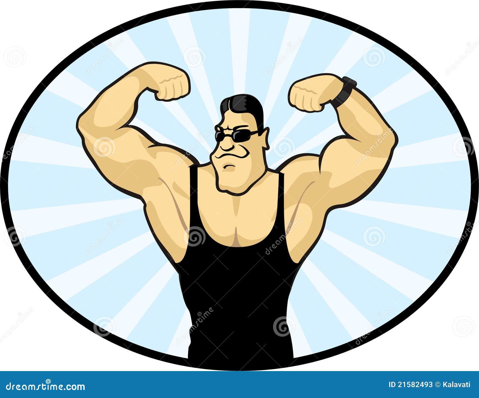Vector Image Of A Bodybuilder Stock Vector - Image: 21582493