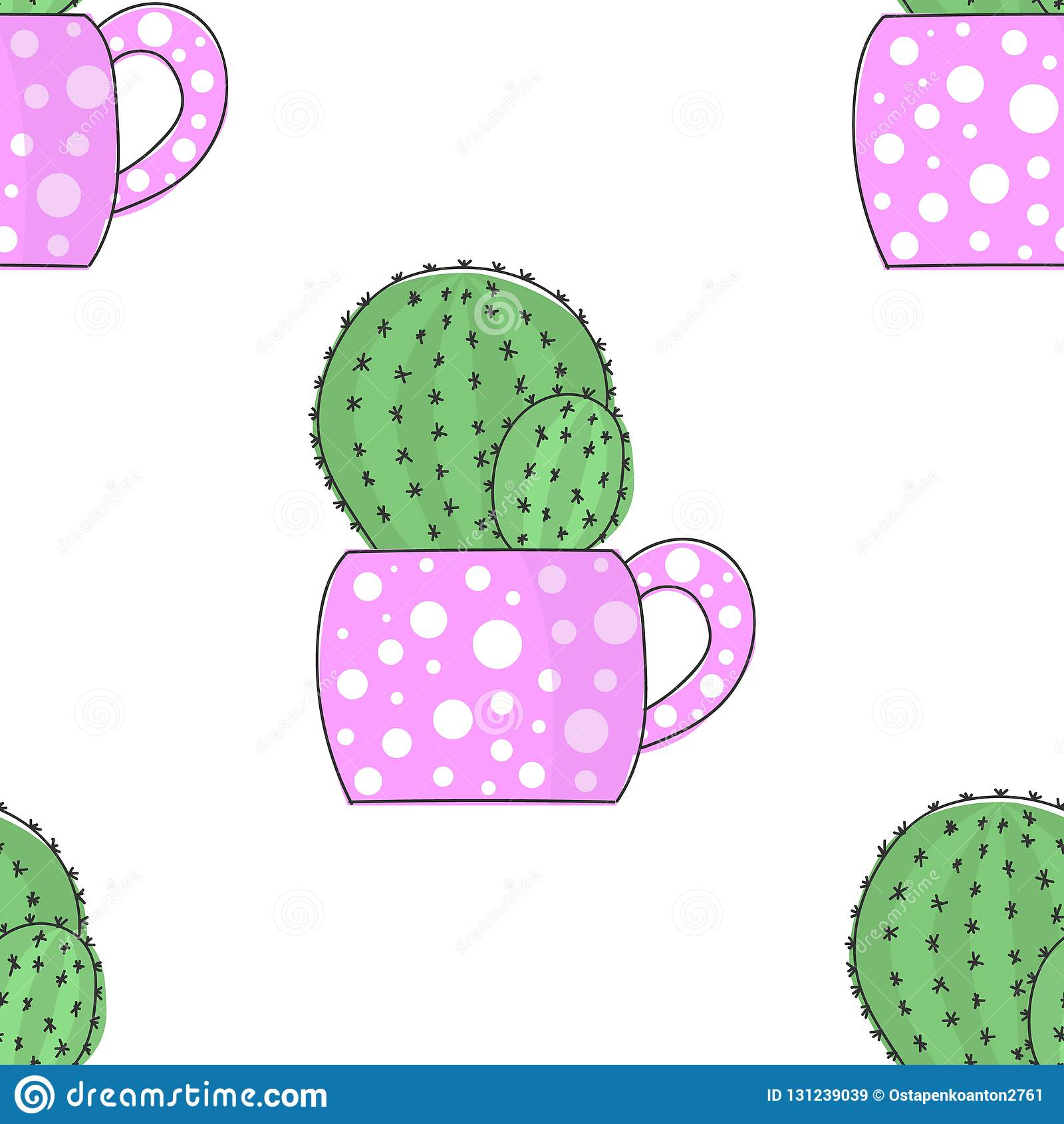 //encrypted-tbn0.gstatic.com/images?q\u003dtbnANd9GcSlVx6W8SEhhaz5SuSaf-QzciuIhT4Mg4-eA4yb-XL0gGcU1UbxXw & Vector Image Bright Cactus In A Flower Pot With Polka Dots. Seamless ...