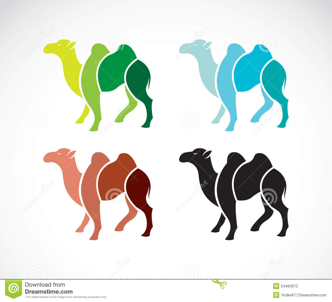 vector image of an camel design stock vector image 54464212