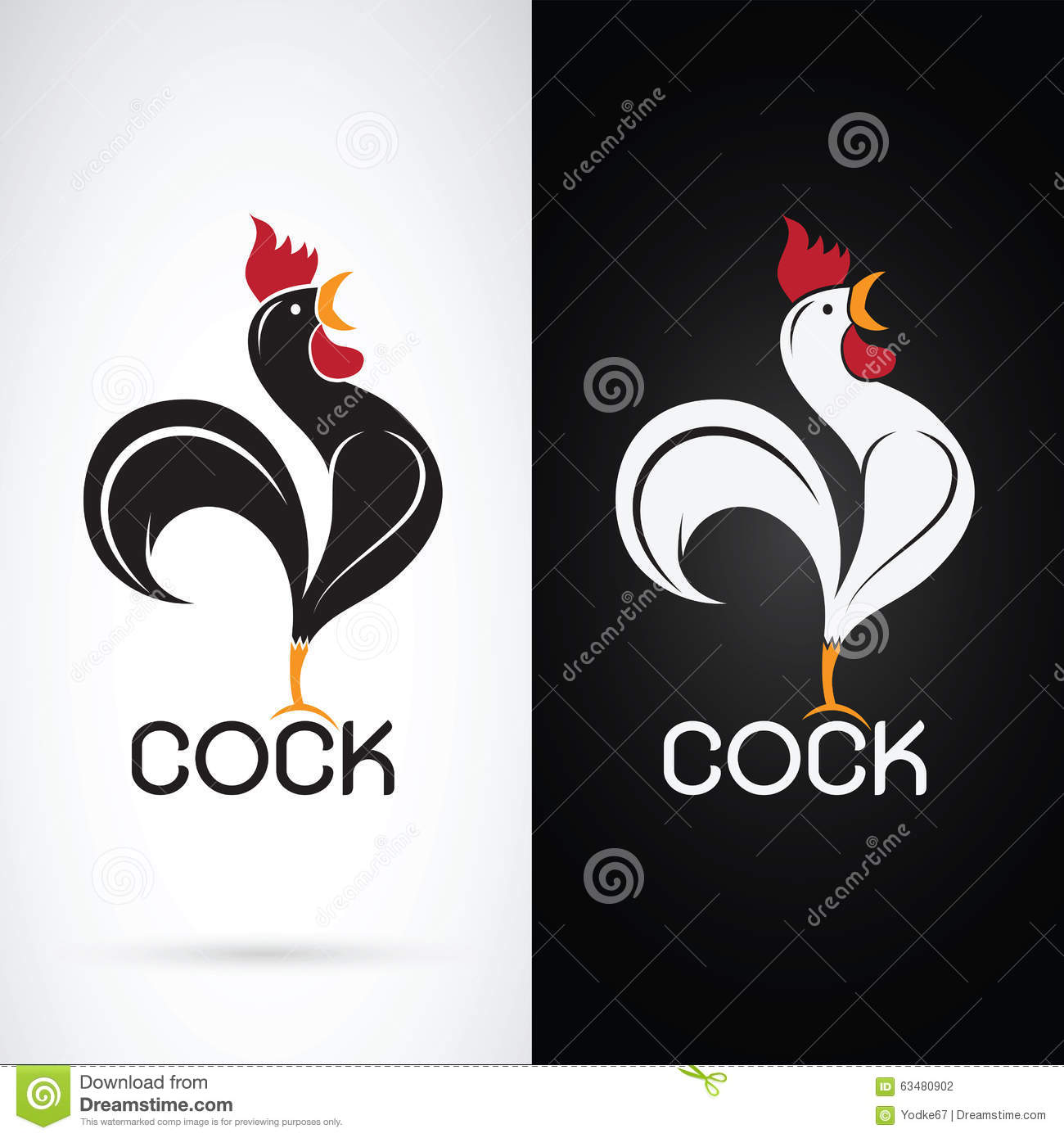 Vector image of an cock vector illustration 39941502 - Cock designing ...