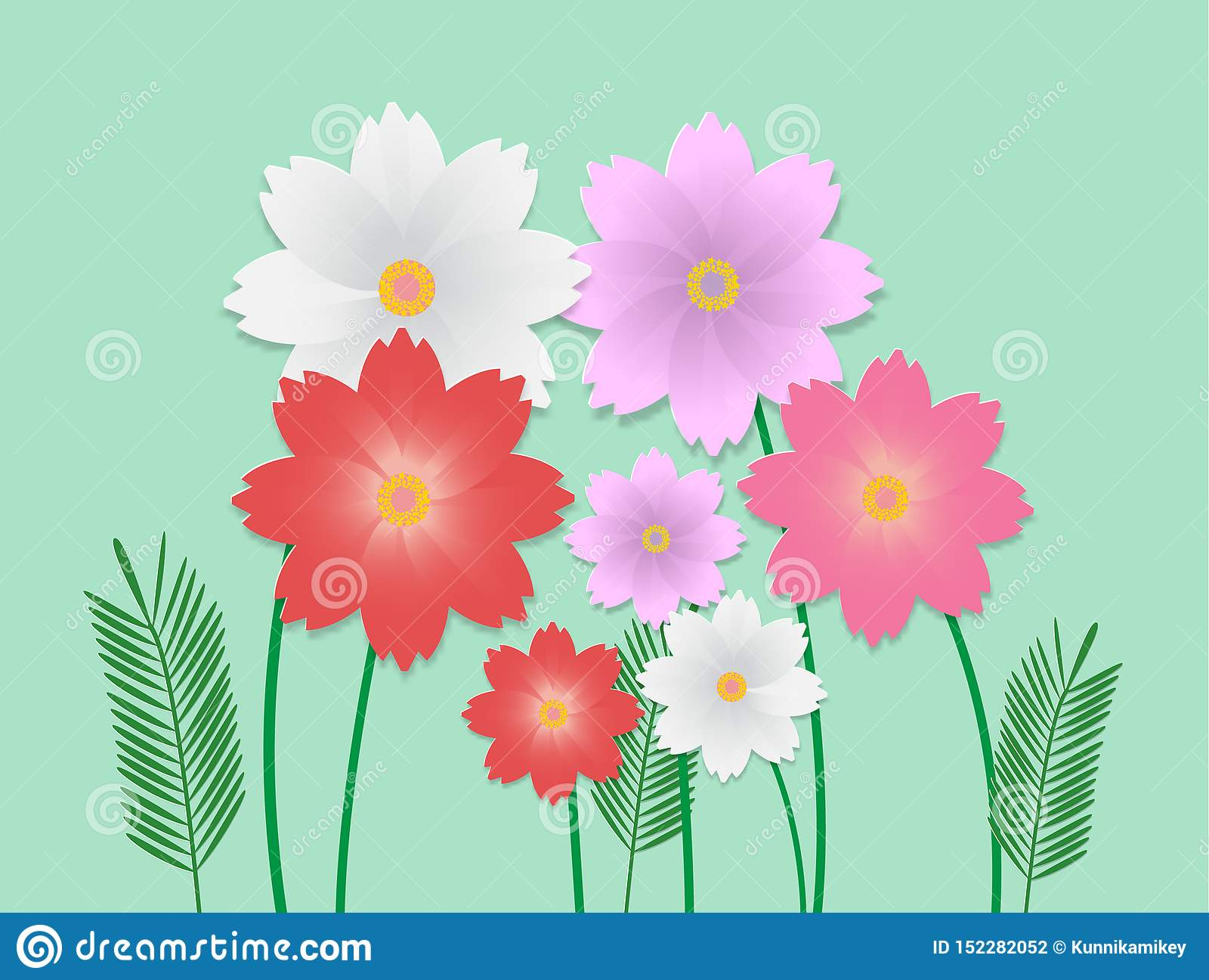 Vector image of colorful flower