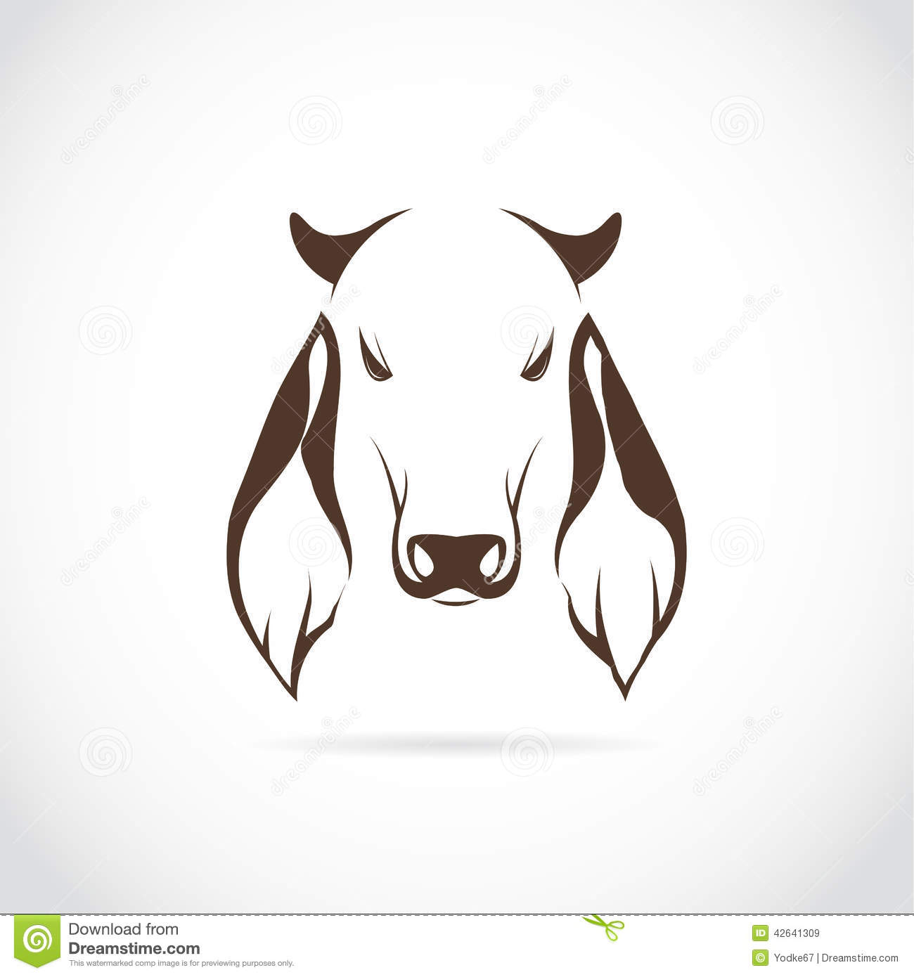 Vector Image Of Cow Head Stock Vector. Illustration Of