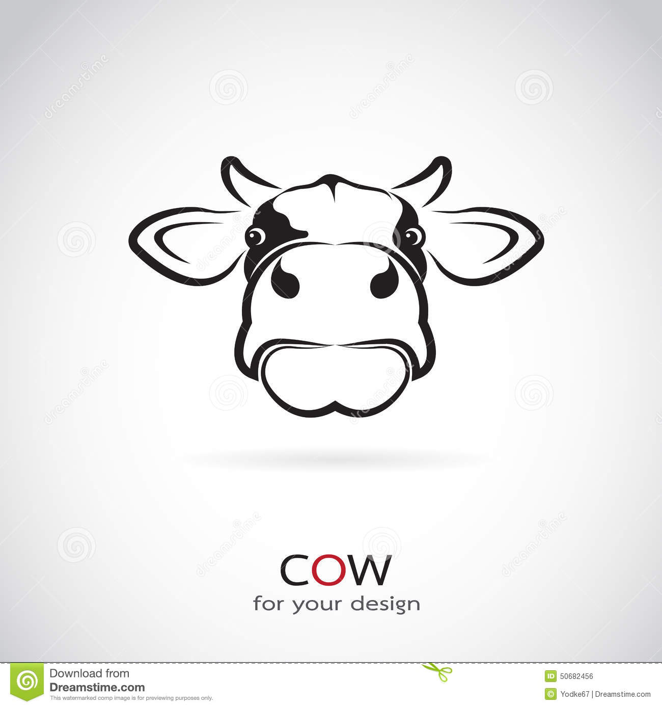 vector image of an cow head royalty free stock photography image