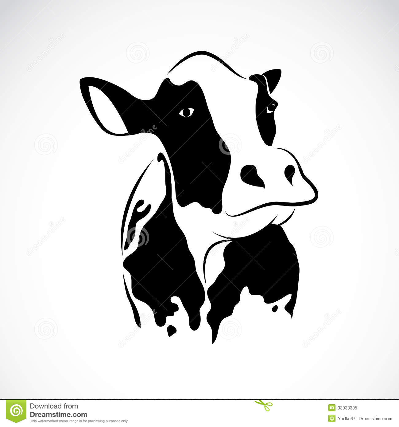 Vector image of an cow stock vector. Image of farmer ...