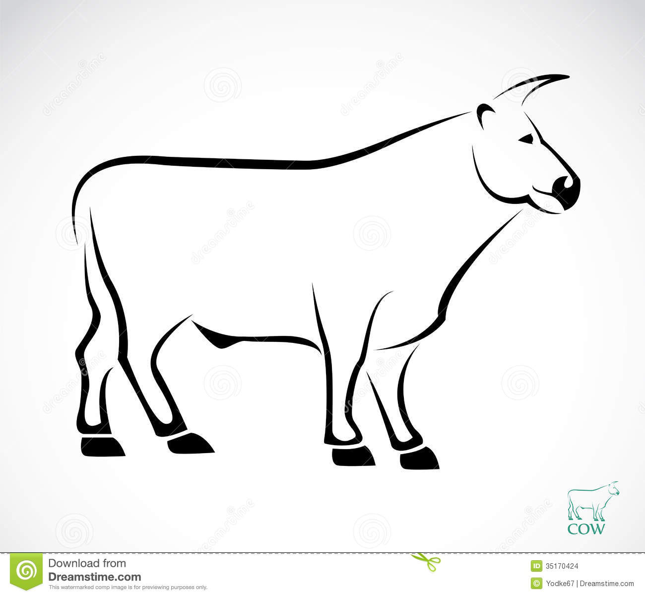 vector image of an cow stock images image 35170424