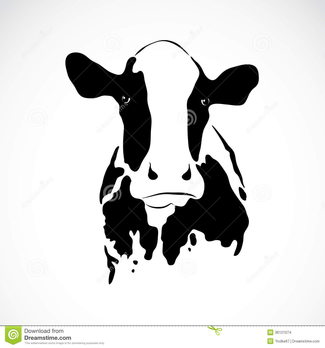 Vector Image Of An Cow...
