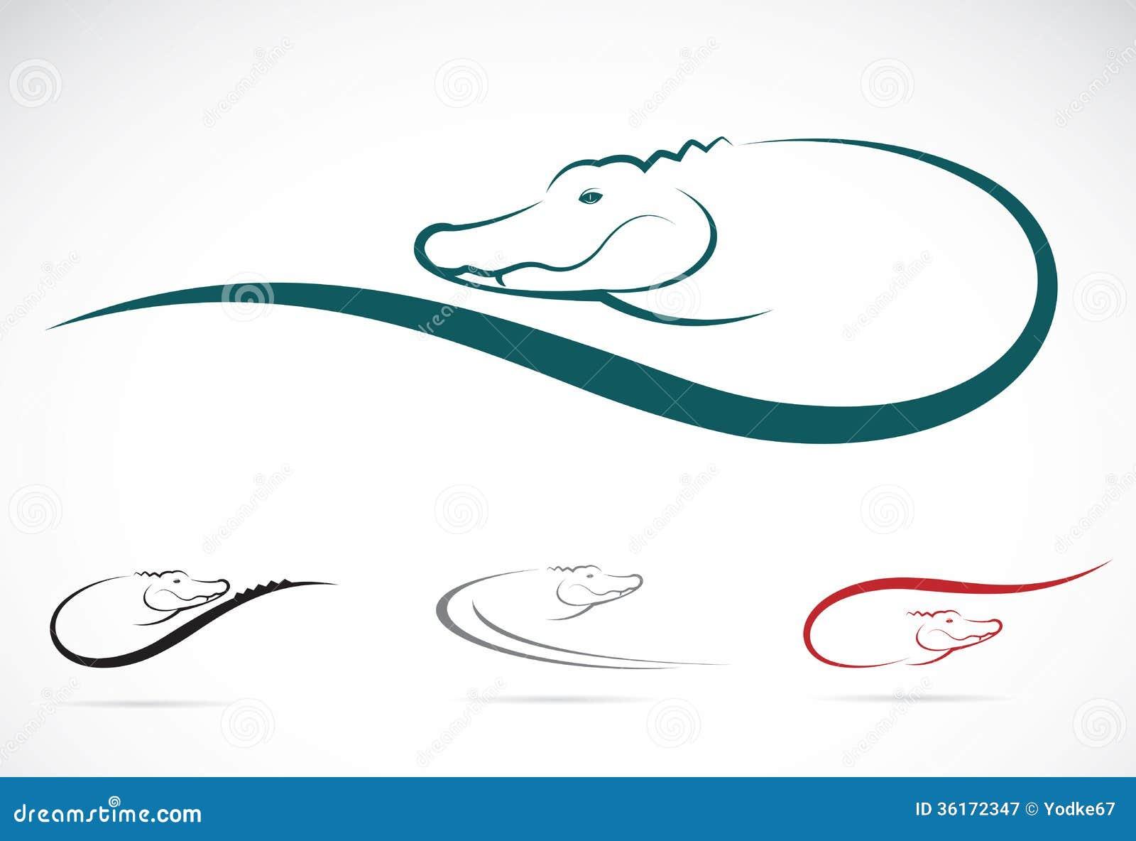 Vector Image Of An Crocodile Stock Vector