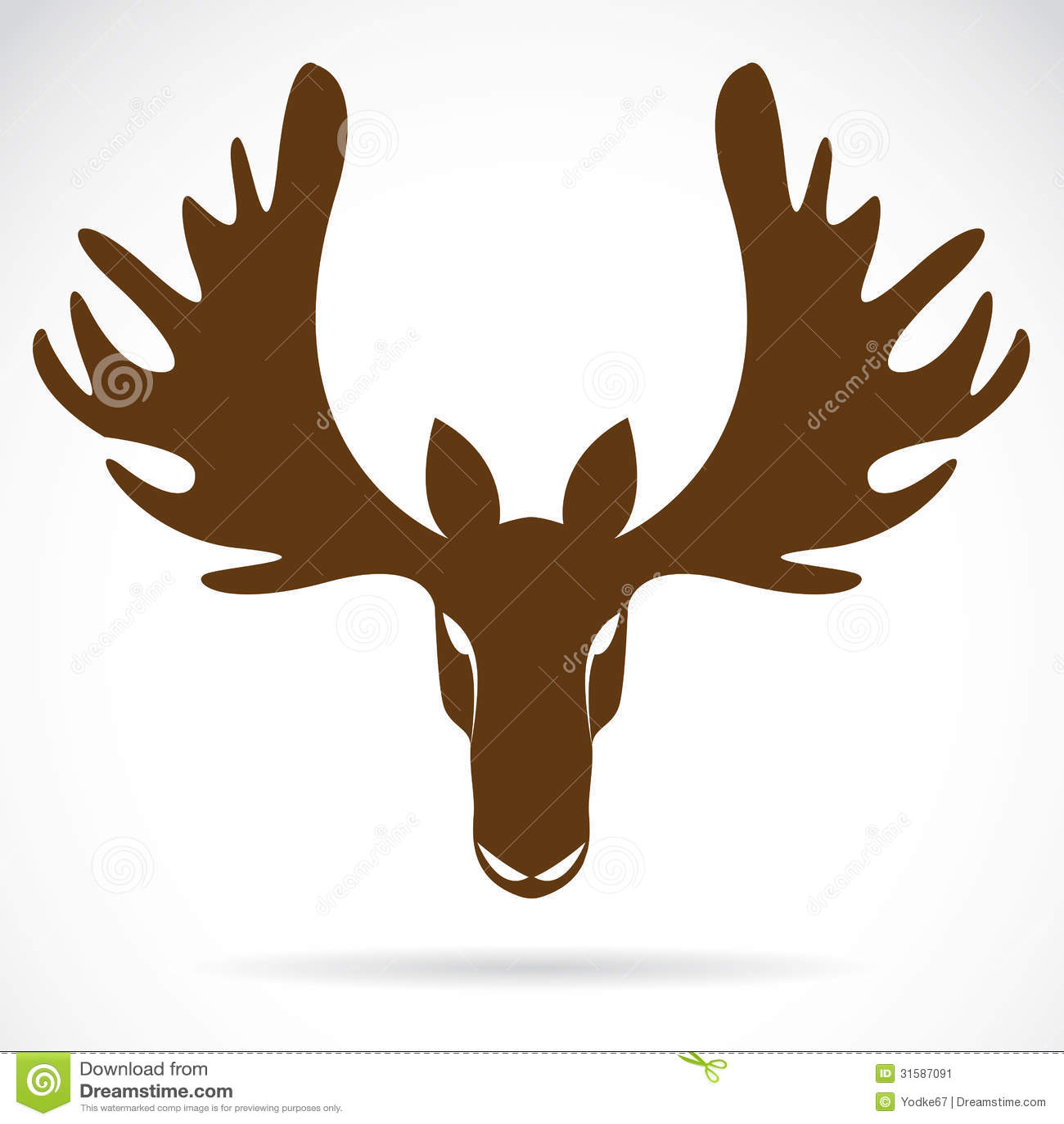 vector image of an deer head stock image image 31587091. Black Bedroom Furniture Sets. Home Design Ideas