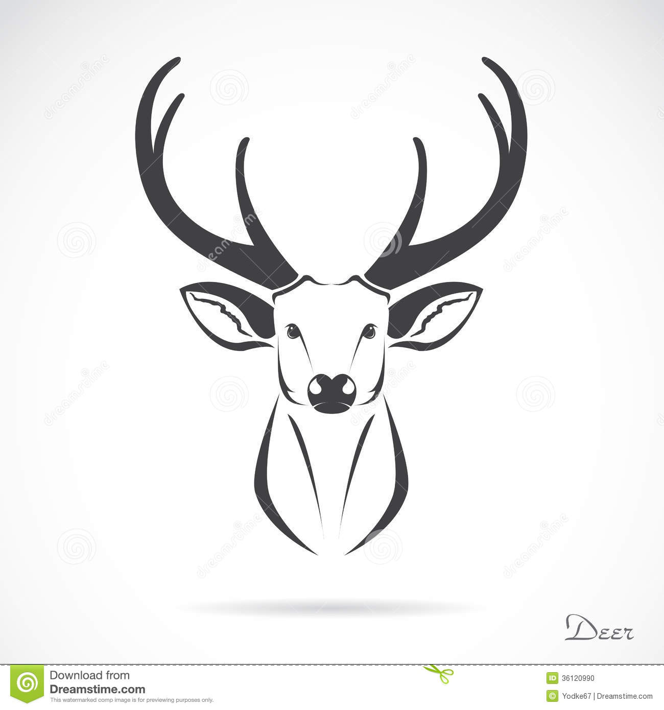 vector image of an deer head stock photo image 36120990