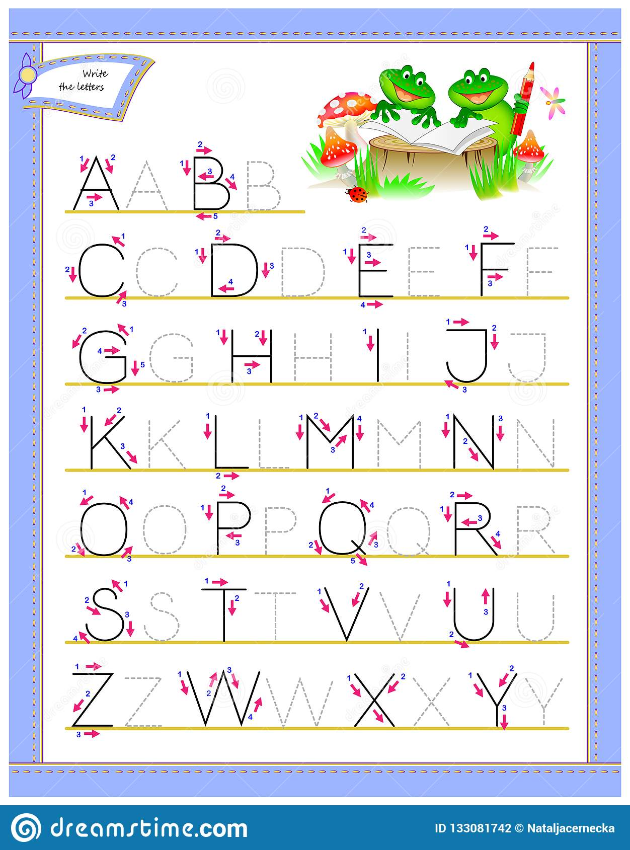 Tracing ABC Letters For Study English Alphabet. Worksheet ...