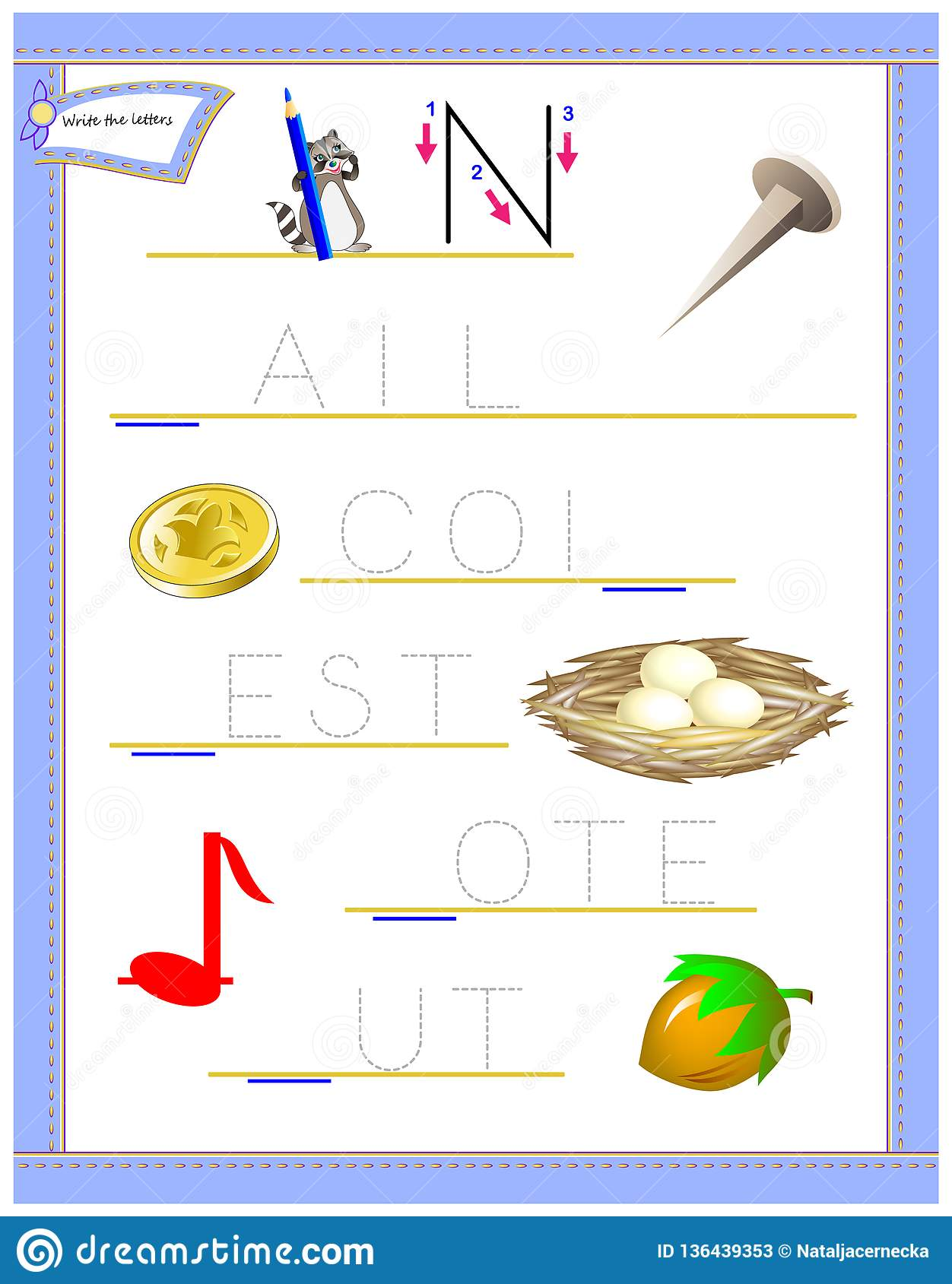 photo relating to Letter N Printable titled Tracing Letter N For Exploration English Alphabet. Printable