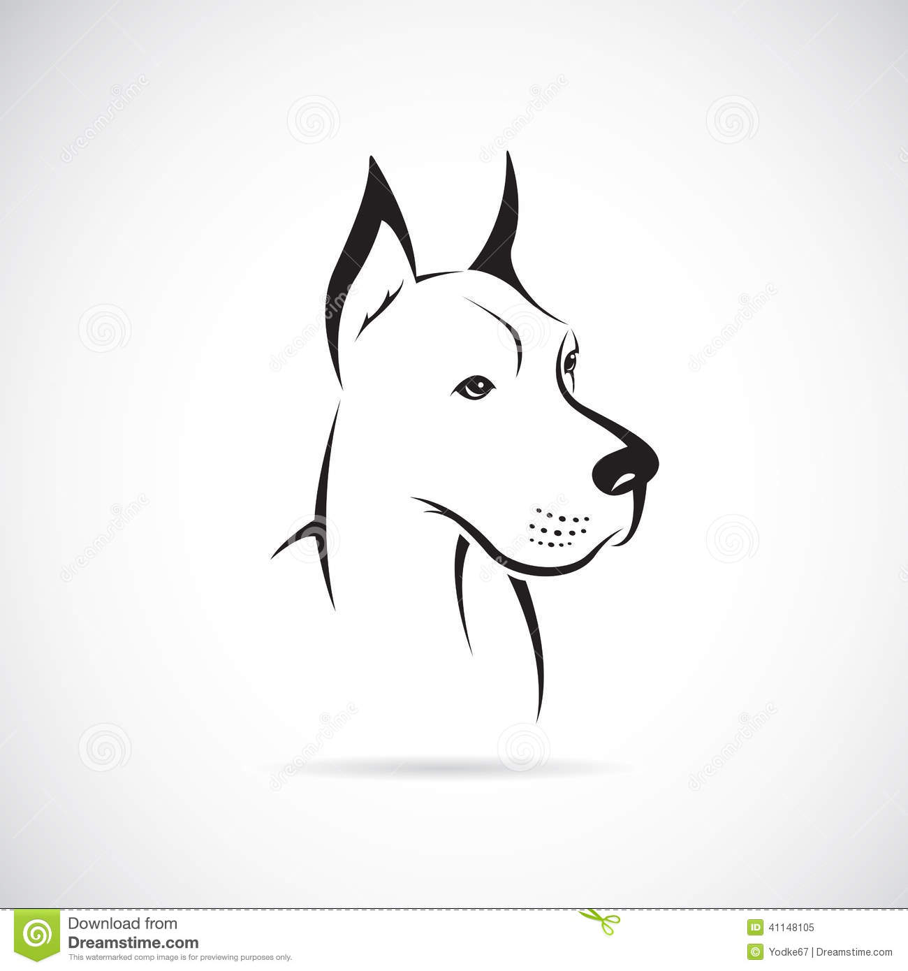 Vector Image Of An Dog Great Dane Stock Vector Image
