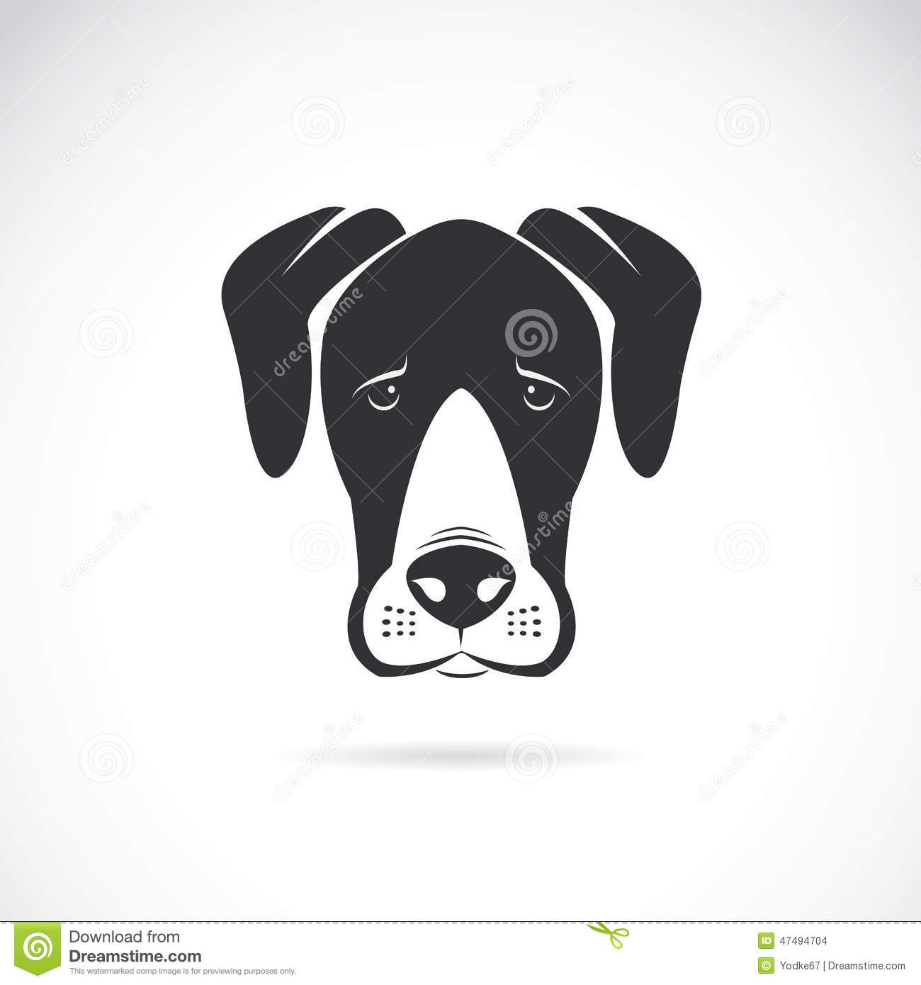 Vector Image Of An Dog (Great Dane) Stock Vector ...