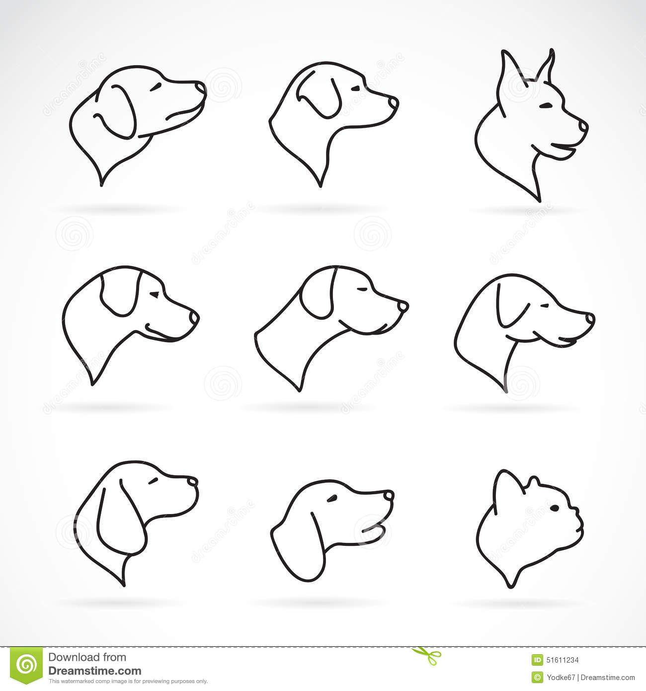 Vector Image Of An Dog Head Illustration 51611234 Megapixl