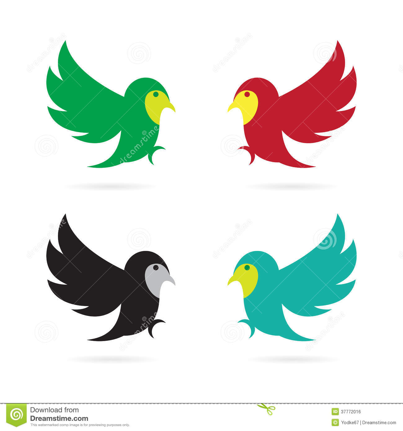 Vector Image Of An Flying Bird Royalty Free Stock Image - Image ...