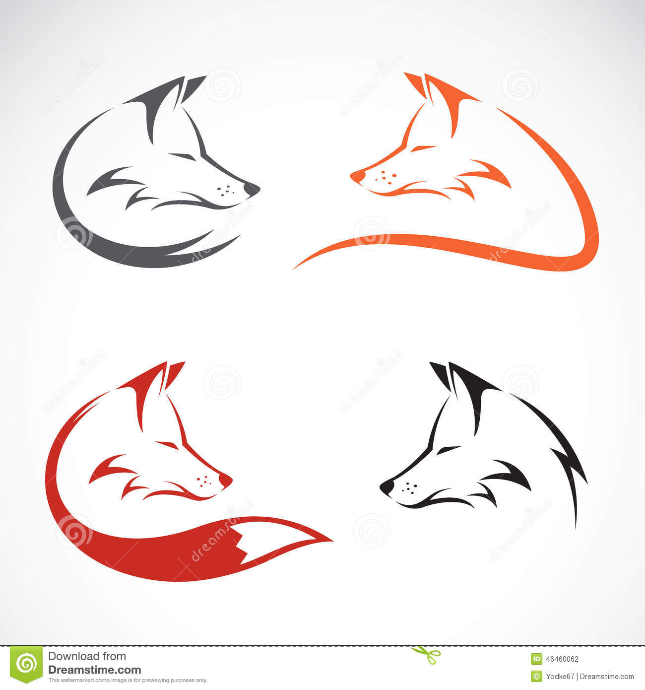 Vector Image Of... Red Fox Illustration