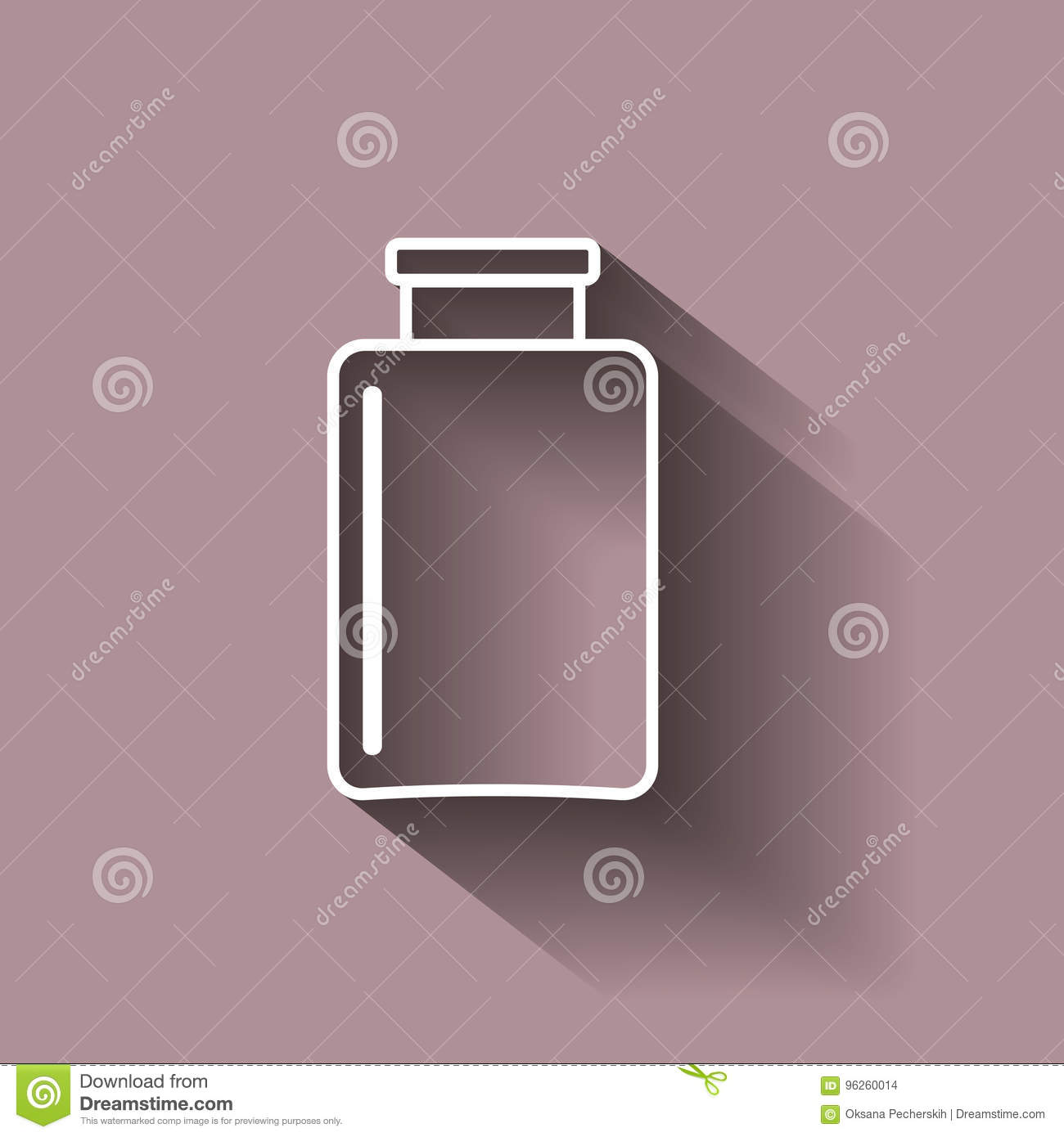 Vector Image Glass Jar Icons, Beakers  Illustration With Shadow