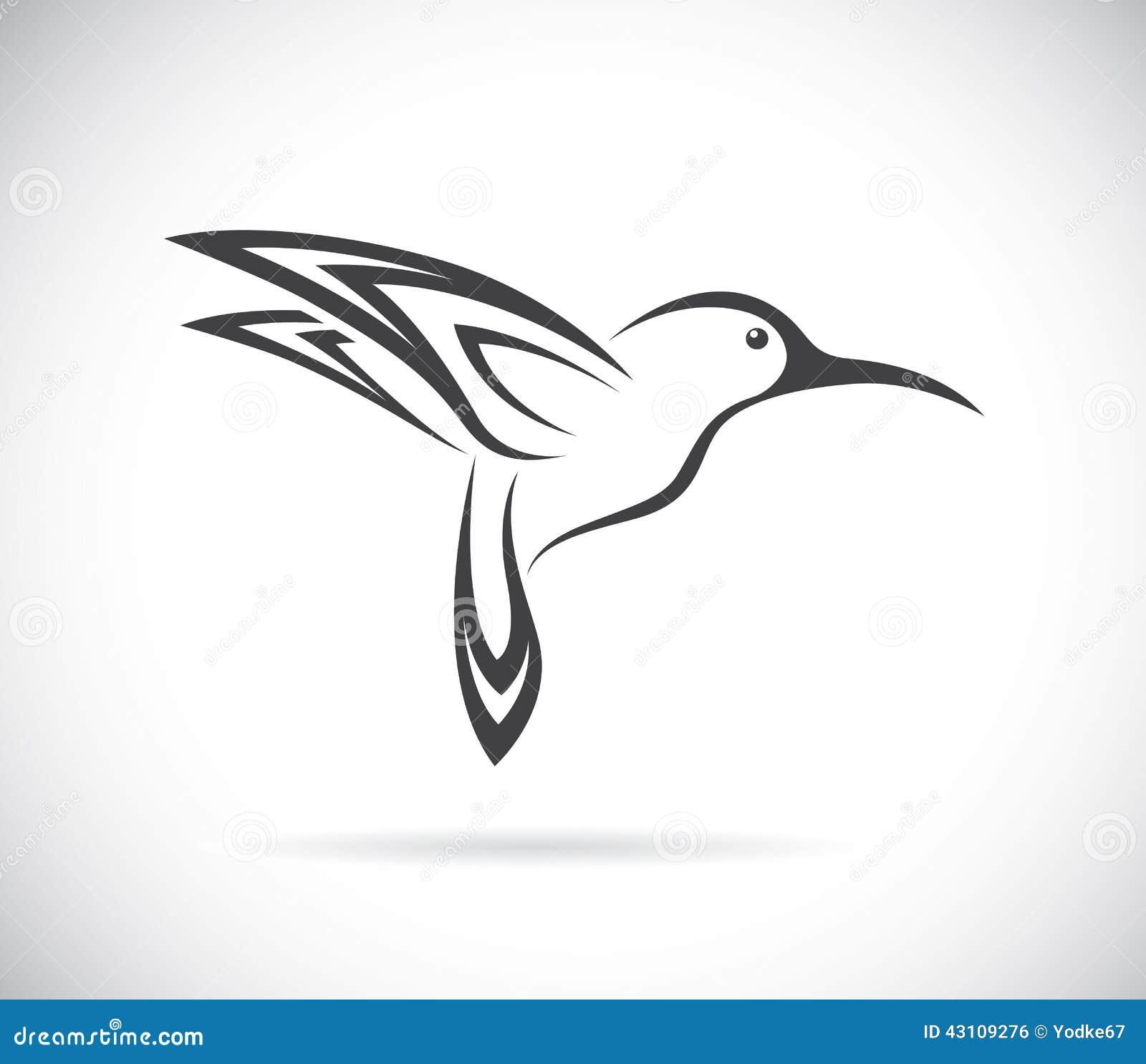 Vector Image Of An Hummingbird Design Stock