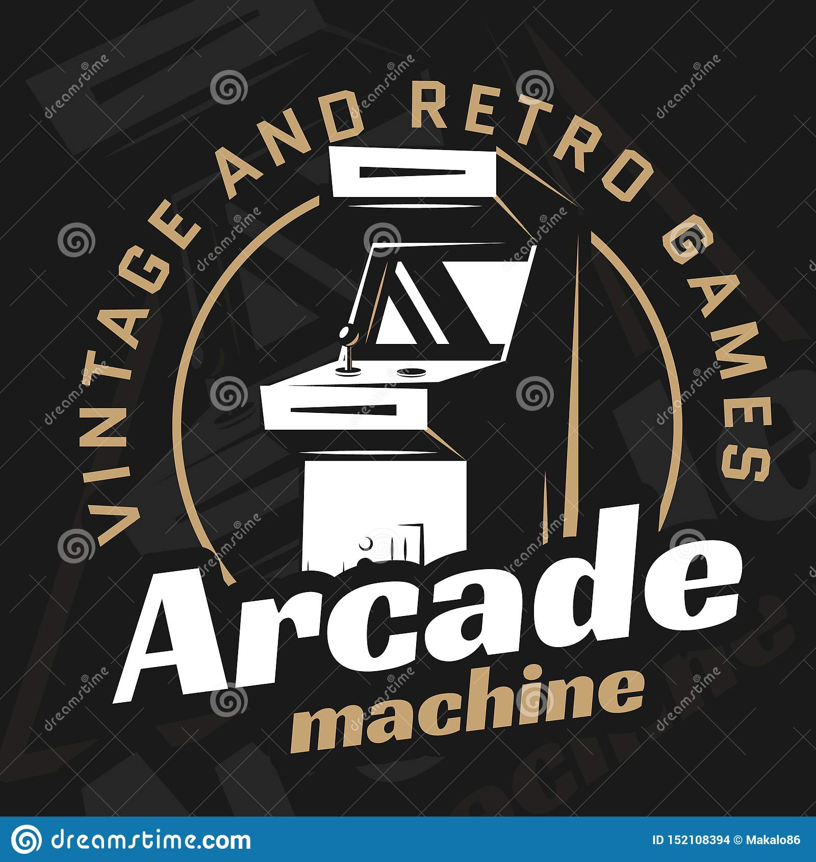Arcade Machine Vector Stock Vector Illustration Of Computer 152108394