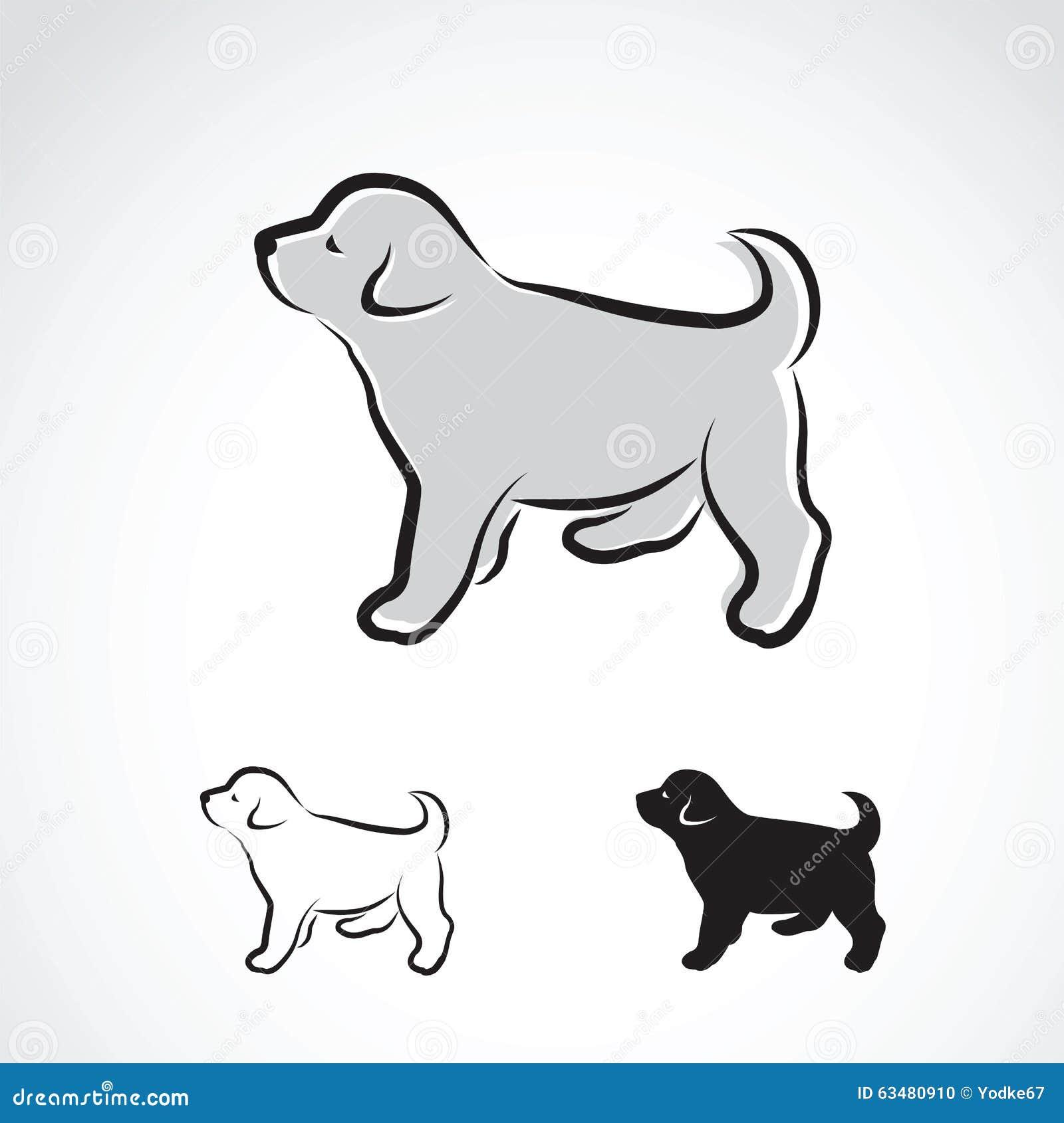 Vector Image Of An Labrador Puppy Illustration 63480910 Megapixl