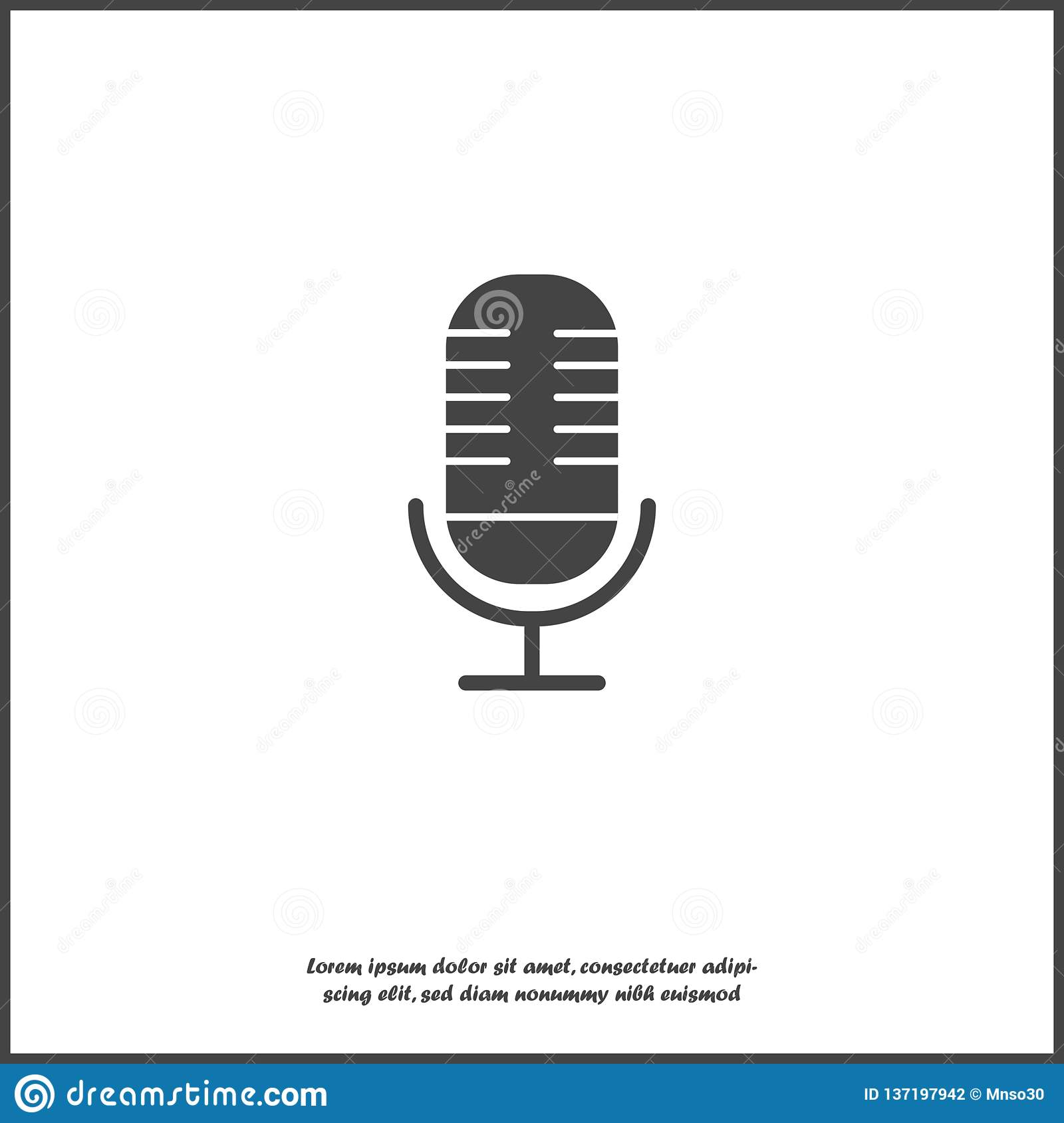 Vector image of microphone. Layers grouped for easy editing illustration.