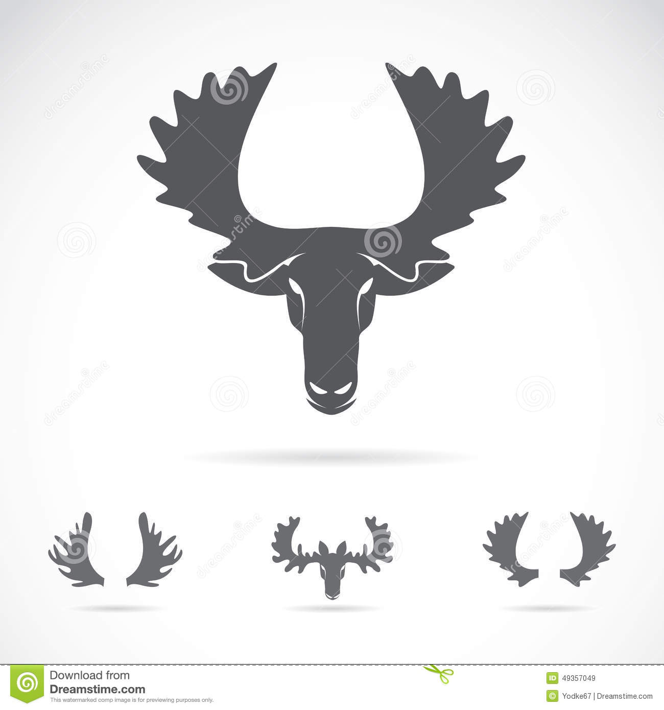 vector image of an moose head stock vector image 49357049