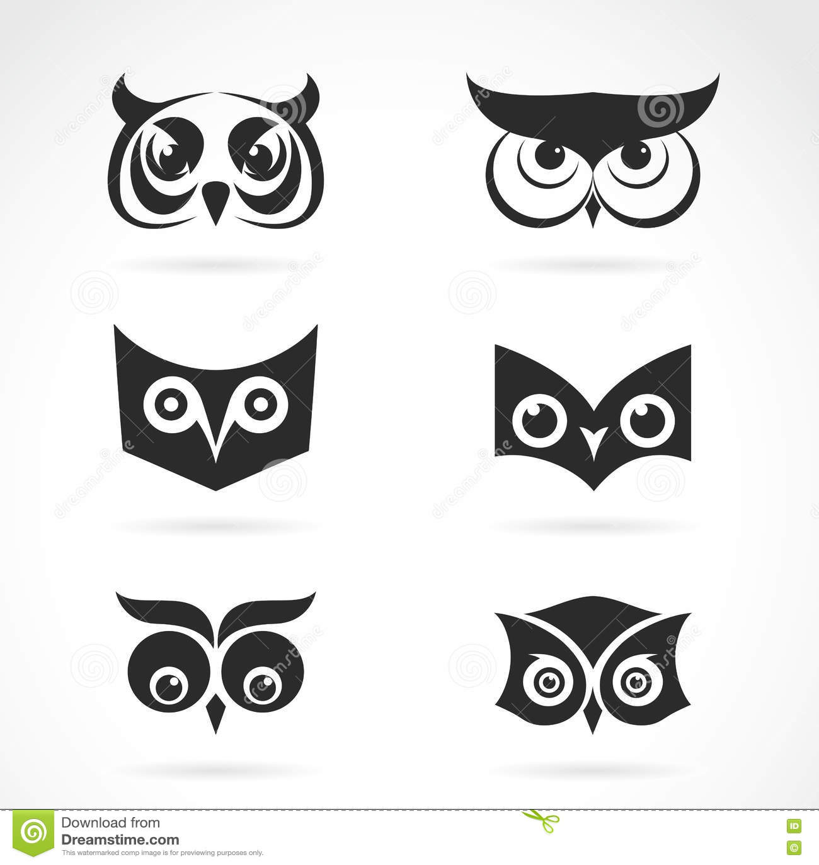vector image of an owl face design stock vector image Owl Psychedelic Art Owl Psychedelic Art