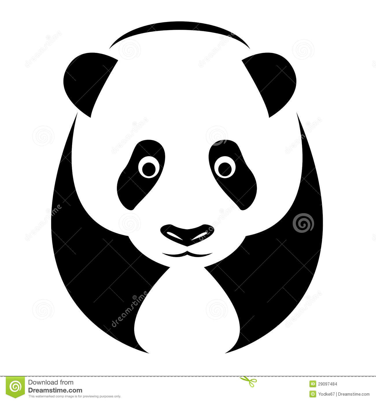 Vector Image Of An Panda Stock Vector Illustration Of